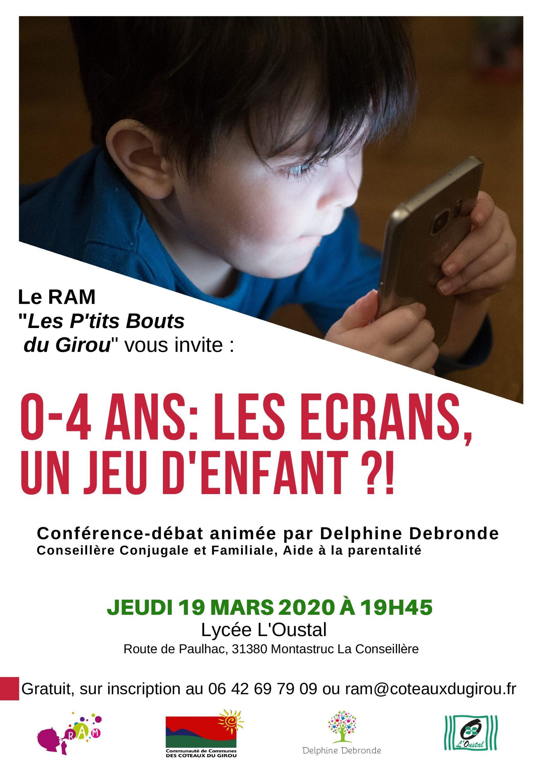 0-4 Ans : Les Écrans, Un Jeu D'enfant ?! Organisé Par Le Ram intérieur Jeux 4 Ans Gratuit