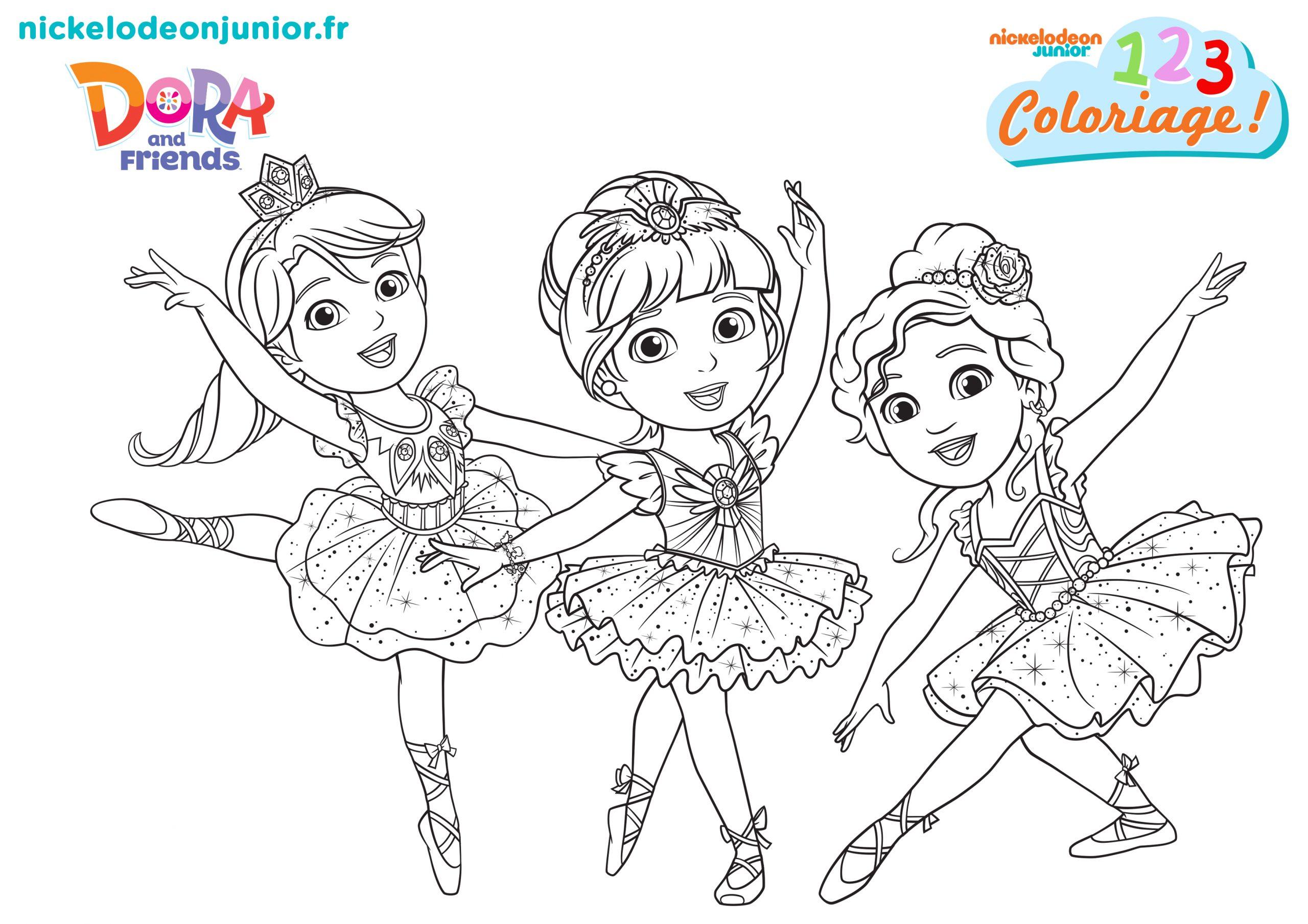 1, 2, 3 Coloriage ! | Dora And Friends : Au Coeur De La encequiconcerne Coloriage Dora Princesse