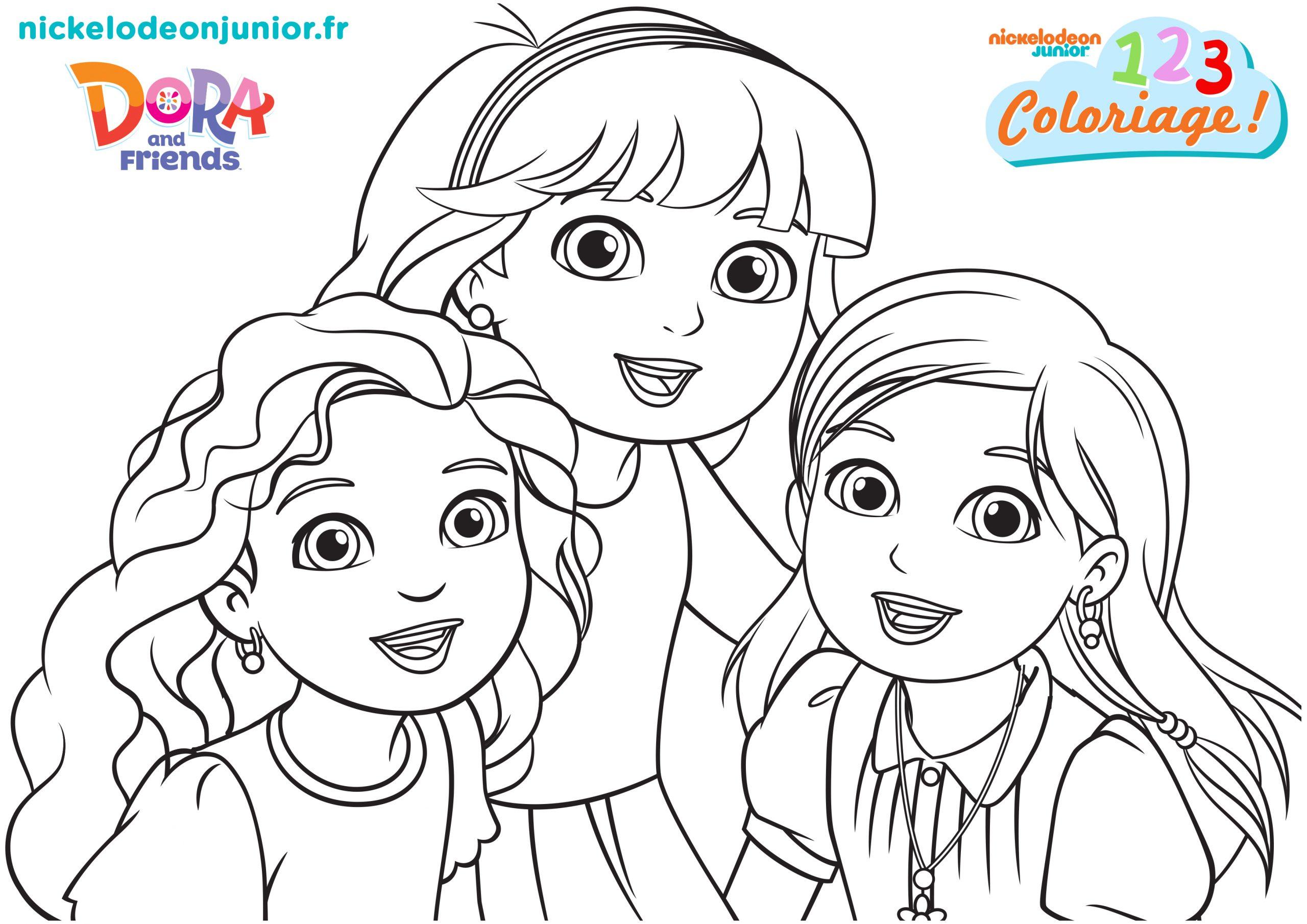 1, 2, 3 Coloriage ! | Dora And Friends : Au Coeur De La tout Coloriage Dora Princesse