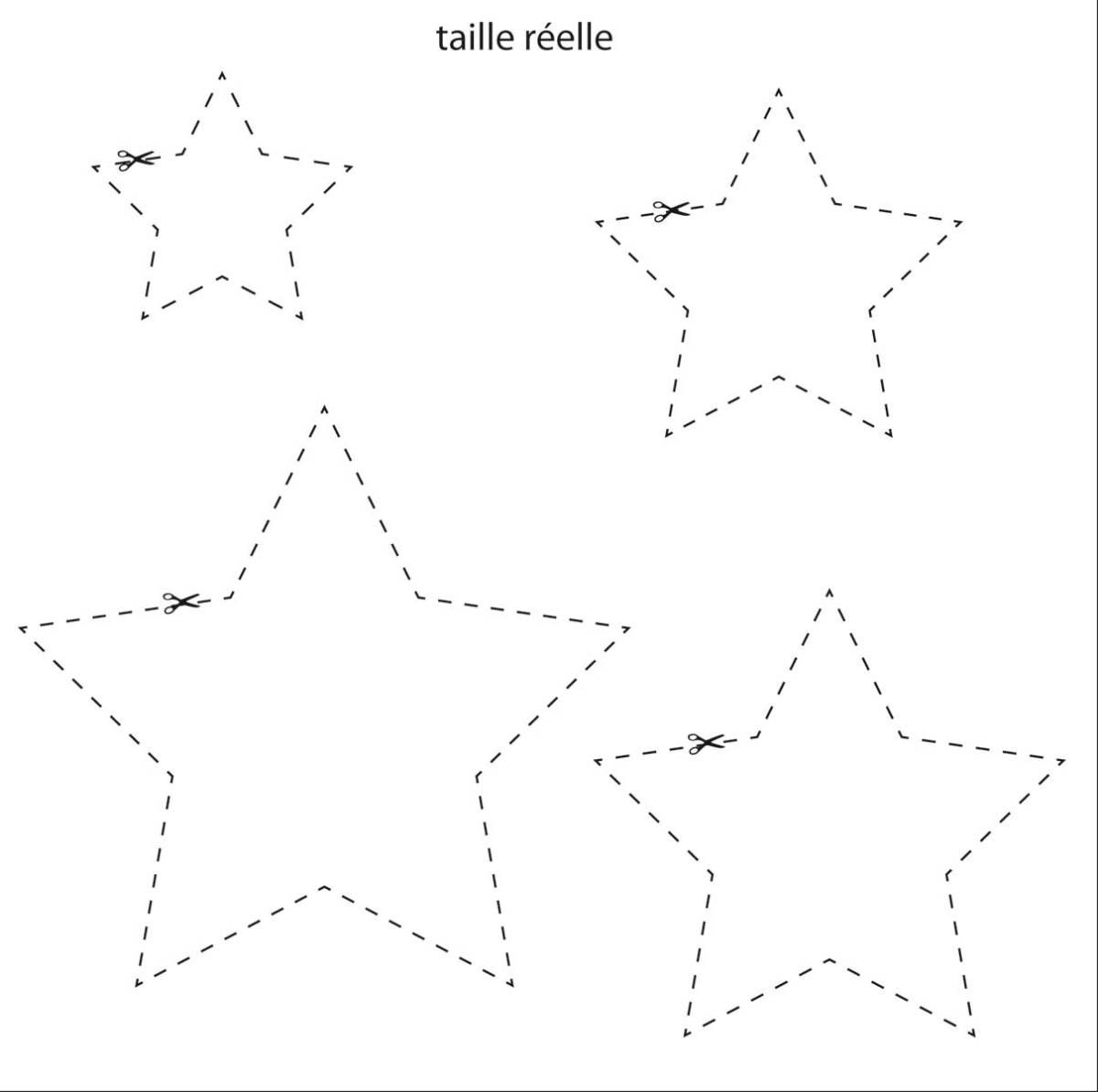 1/ À Partir Des Gabarits Découpez Vos Étoiles De Différentes destiné Gabarit Sapin De Noel A Imprimer