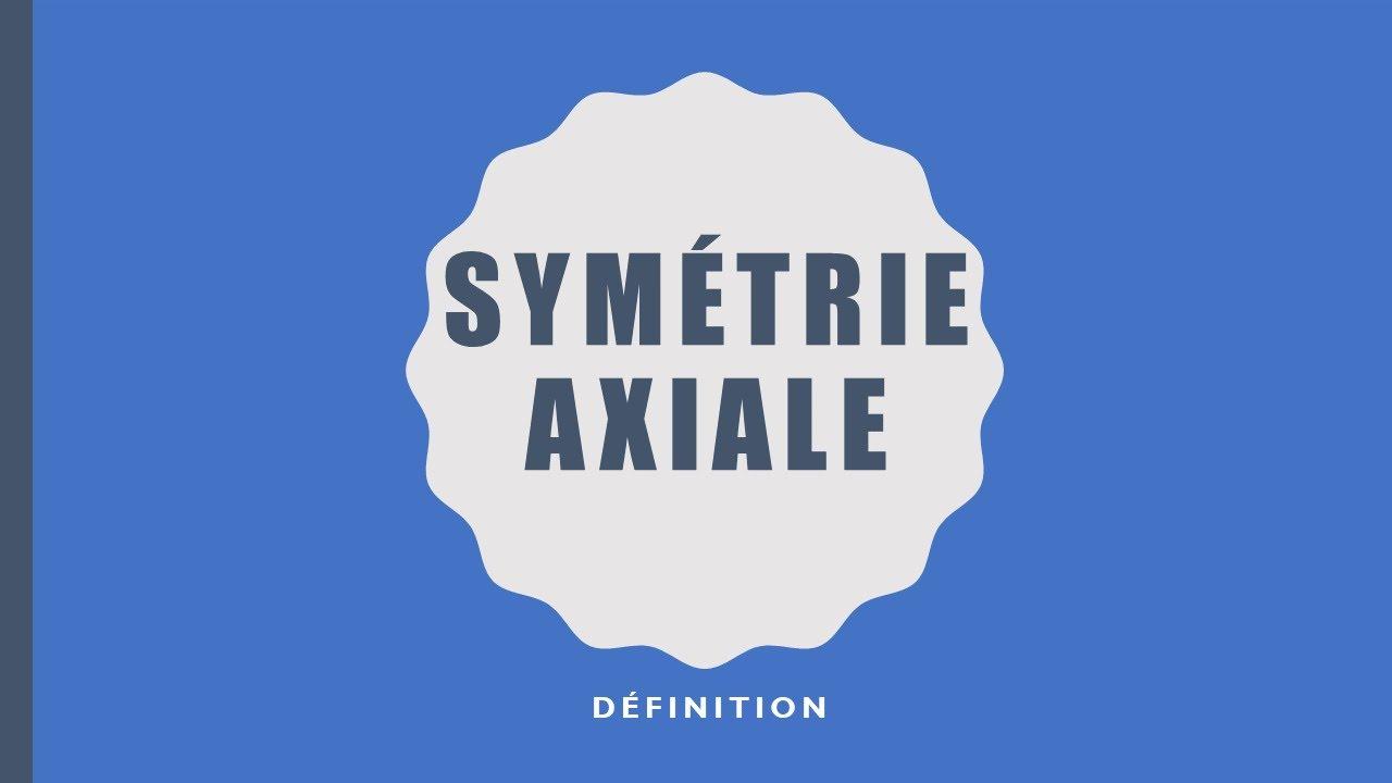 1-Symétrie Axiale - Définition concernant Symetrie Axial