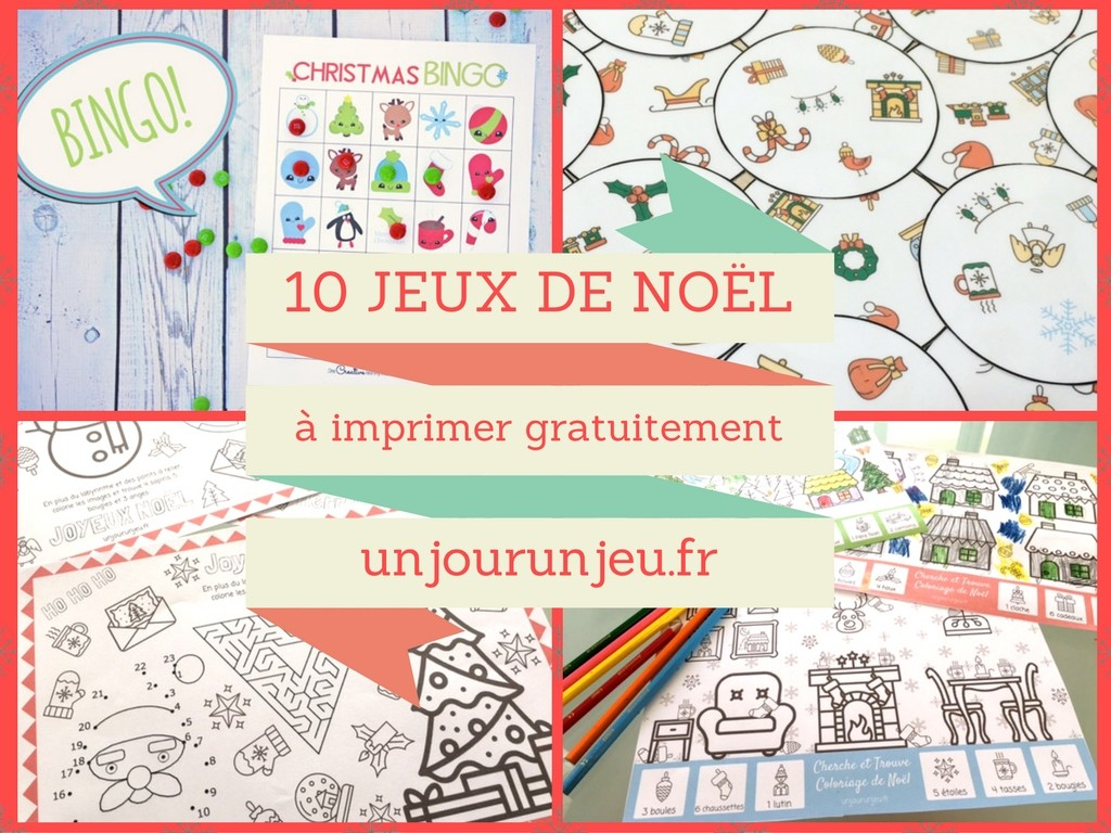 10 Activités De Noël À Imprimer Gratuitement Pour Amuser Vos à Jeux Gratuit Enfant De 3 Ans
