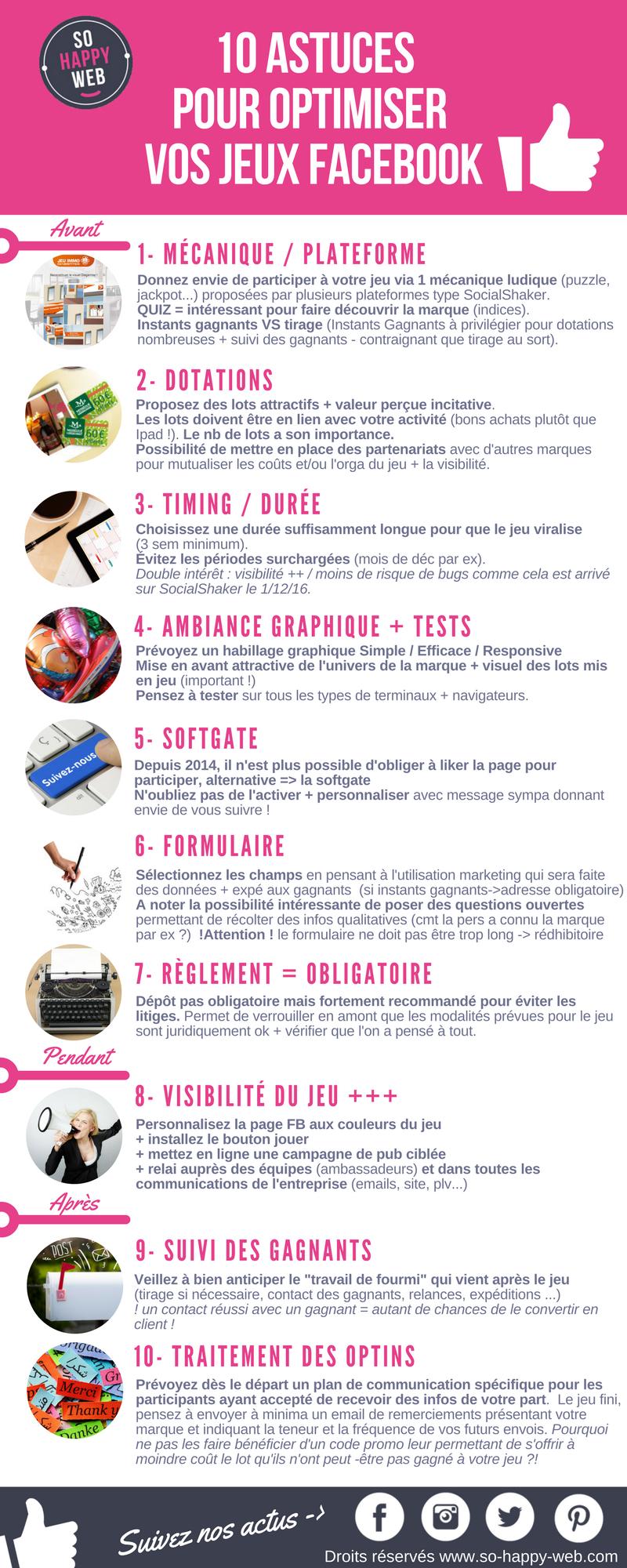10 Astuces Pour Optimiser Vos Jeux Facebook ! - So Happy Web dedans Jeux Avec Des Questions
