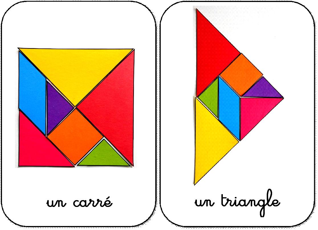 10 Formes En Tangram Maternelle Carré Et Triangle | Tangram dedans Jeux De Tangram Gratuit