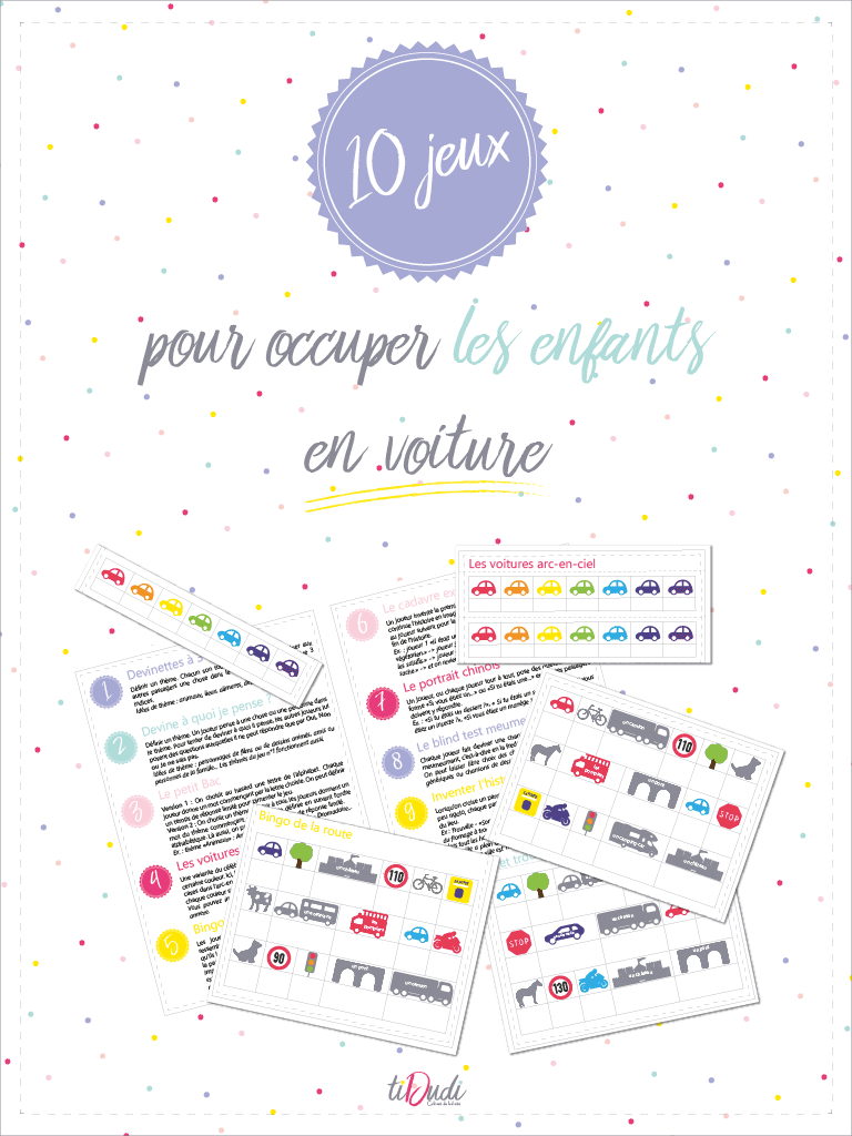 10 Jeux Pour Occuper Les Enfants En Voiture - Kit À Imprimer tout Jeux A Imprimer Pour 10 Ans