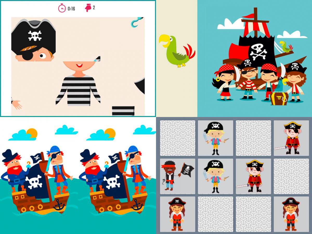 10 Jeux Rigolos Autour Des Pirates intérieur Jeu Des Différences En Ligne