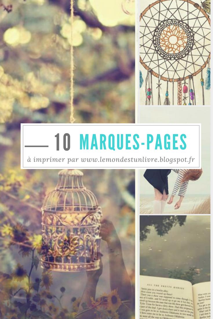 10 Marques-Pages À Imprimer #2 - Le Monde Est Un Livre concernant Marque Page Gratuit À Imprimer