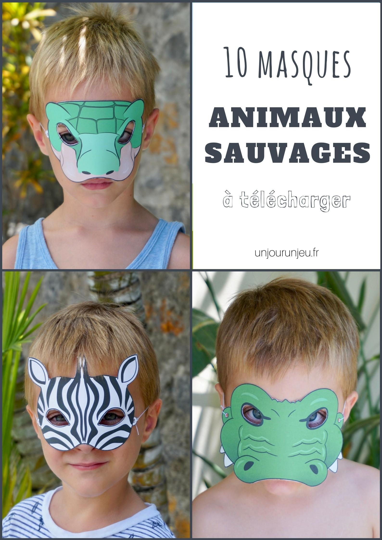 10 Masques D'animaux Sauvages À Imprimer Pour Animer Une intérieur Masque À Imprimer Animaux