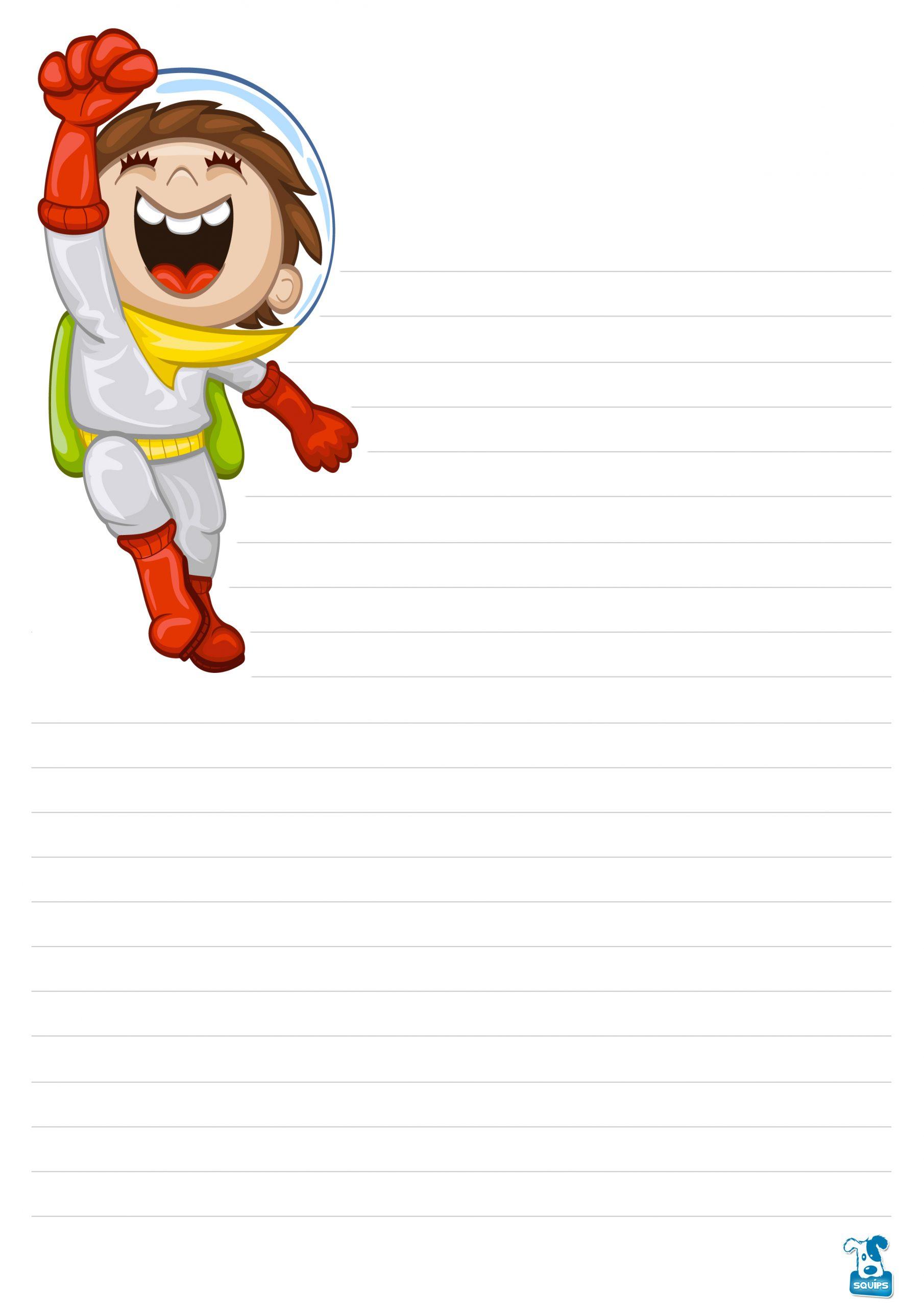 10 Papiers À Lettre À Imprimer Pour Enfants | 123Cartes concernant Papier A Lettre Enfant