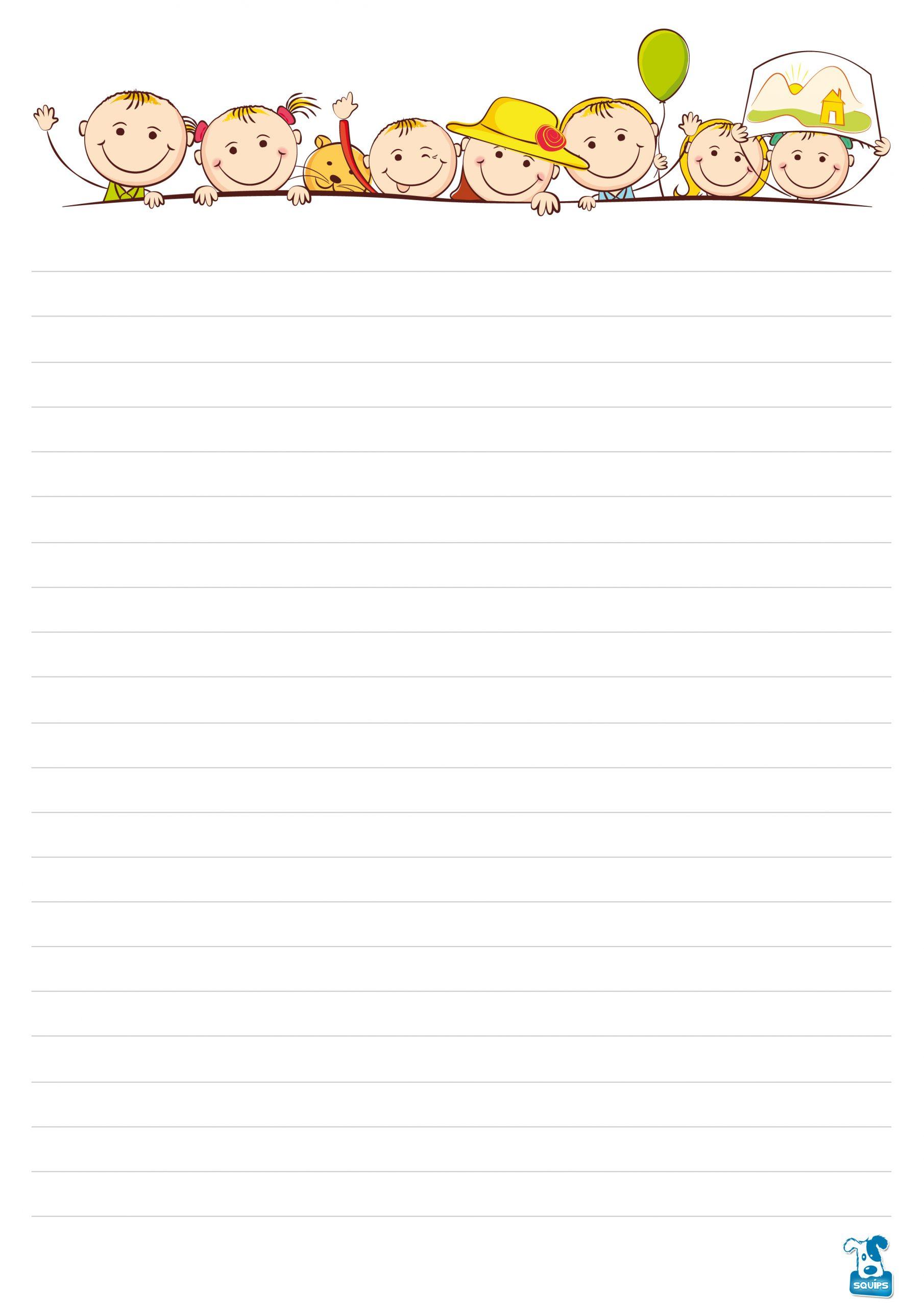 10 Papiers À Lettre À Imprimer Pour Enfants | 123Cartes dedans Papier A Lettre Enfant