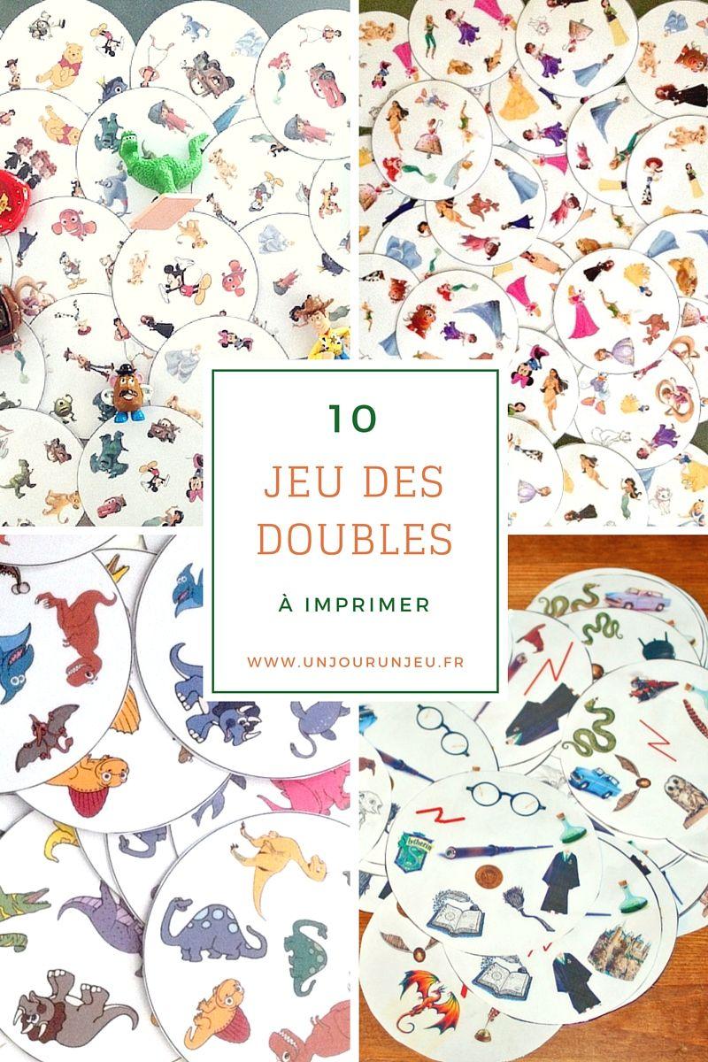 10 Versions Du Jeu Des Doubles À Imprimer Gratuitement avec Jeux Societe Gratuit