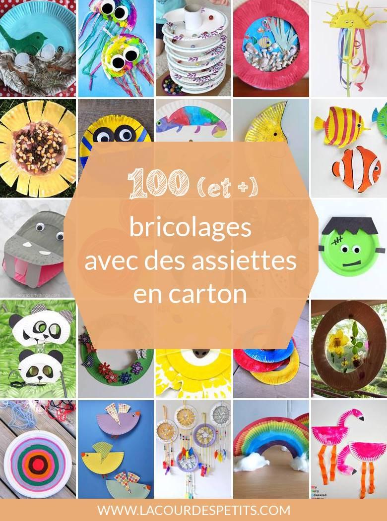 100 (Et +) Activités Manuelles Avec Des Assiettes En Carton à Decoupage Pour Enfant