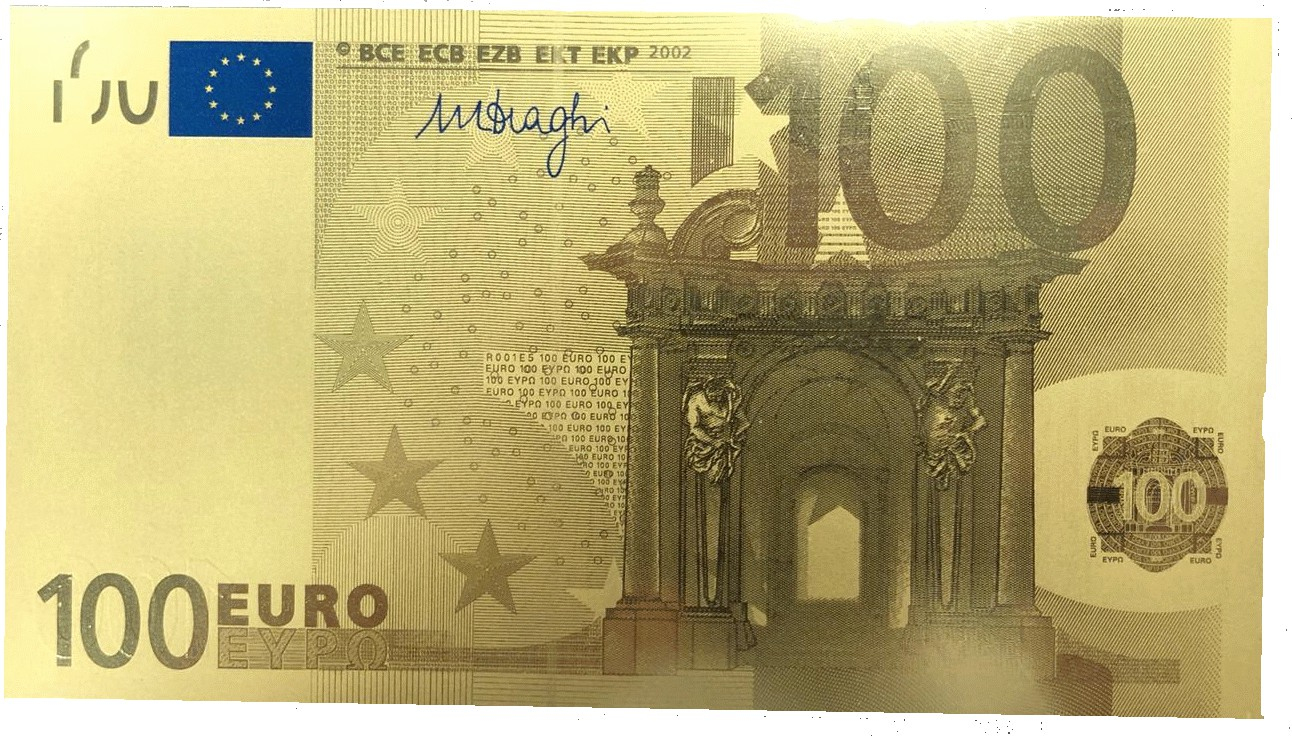 100 Euros Or - 1 Gr Gold - Billet De Banque - Goldsilver.be tout Billet De 100 Euros À Imprimer
