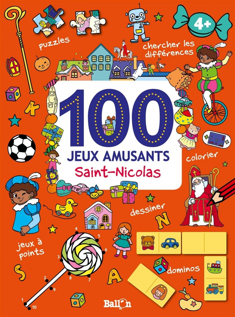 100 Jeux Amusants : Saint-Nicolas : 4 + à Chercher Les Differences