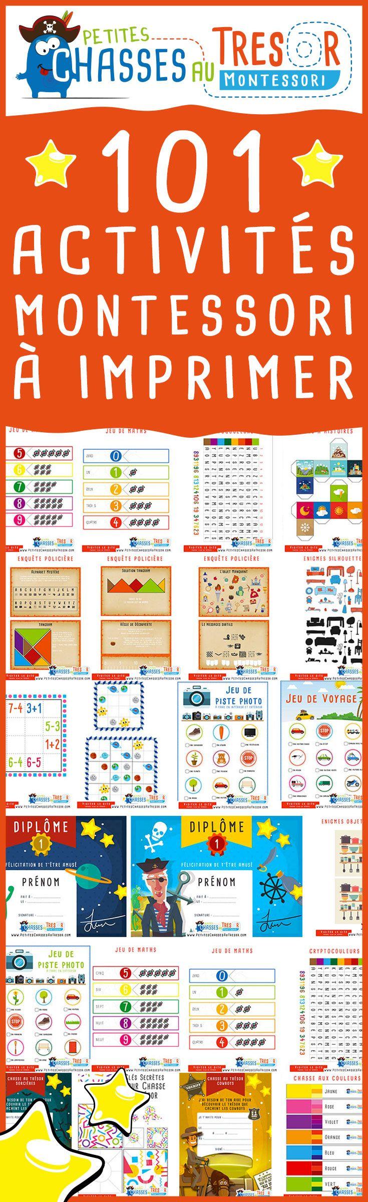 101 Activités Montessori À Imprimer Gratuitement Pour Les à Jeux Enfant 6 Ans Gratuit