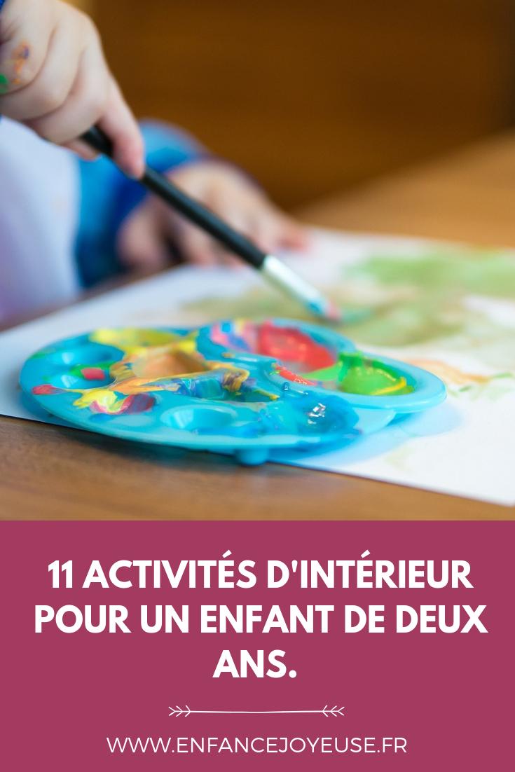 11 Activités D'intérieur Pour Un Enfant De 2 Ans | Activités à Activité 2 3 Ans