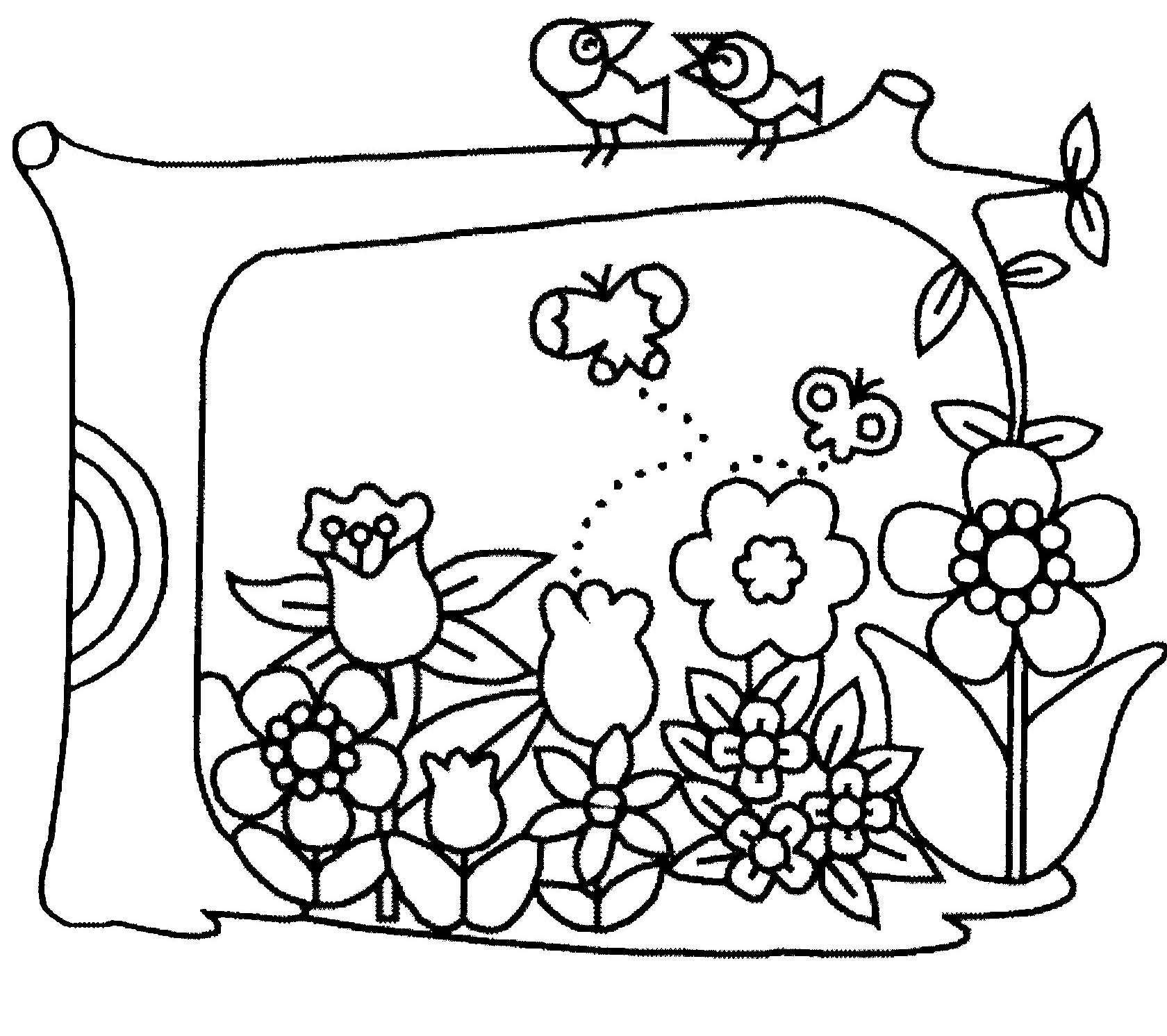 115 Dessins De Coloriage Fleur À Imprimer avec Dessin A Colorier De Fleur