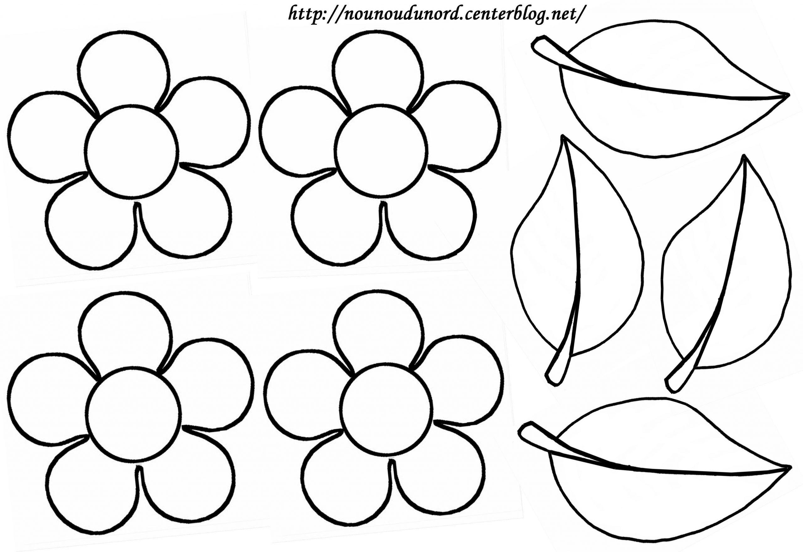 115 Dessins De Coloriage Fleur À Imprimer dedans Dessin A Decouper Et A Imprimer