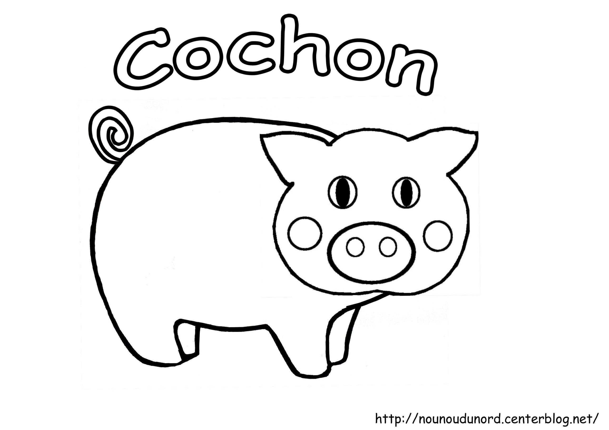 116 Dessins De Coloriage Cochon À Imprimer avec Dessin A Colorier Cochon