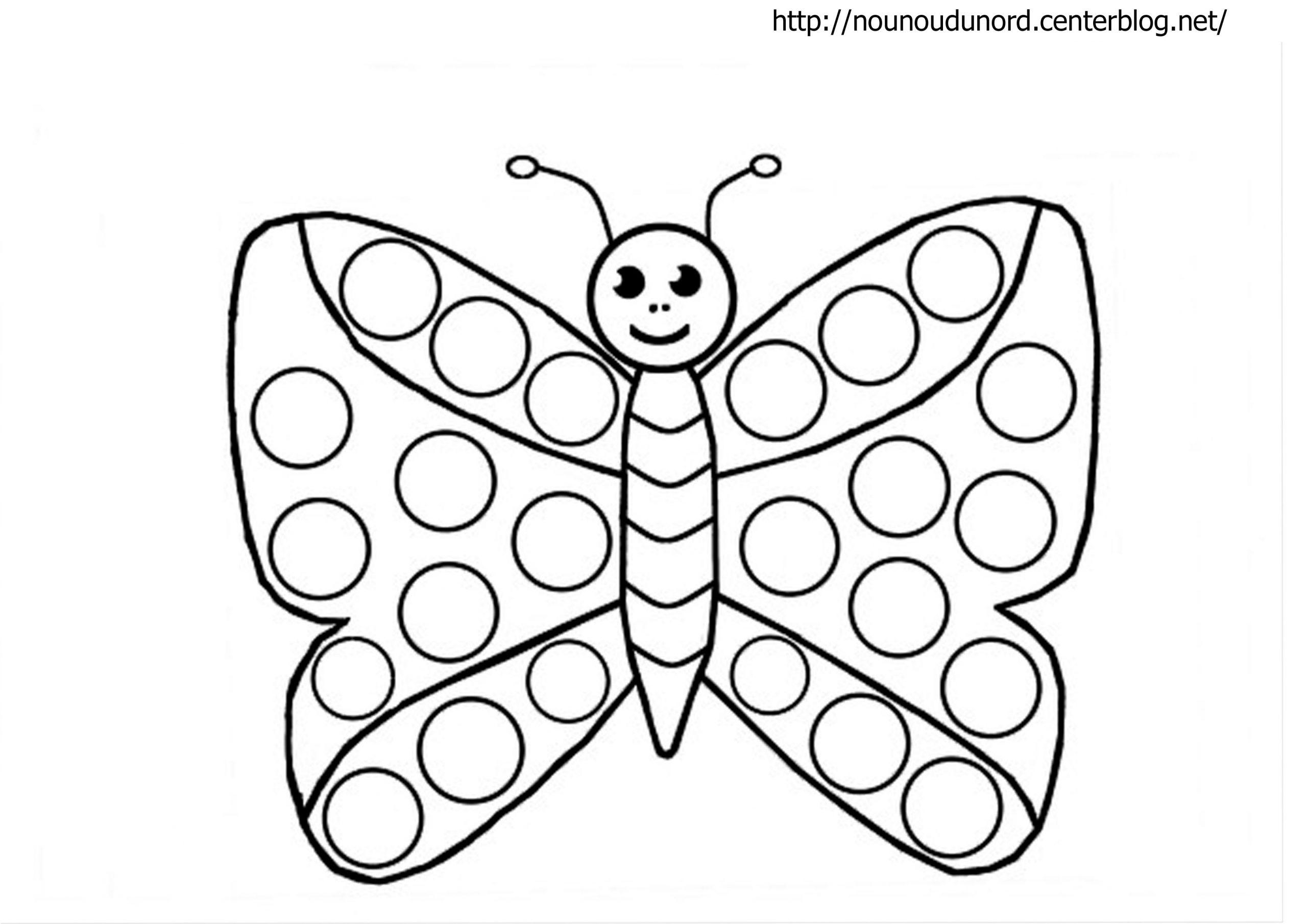 119 Dessins De Coloriage Papillon À Imprimer pour Papillon À Dessiner