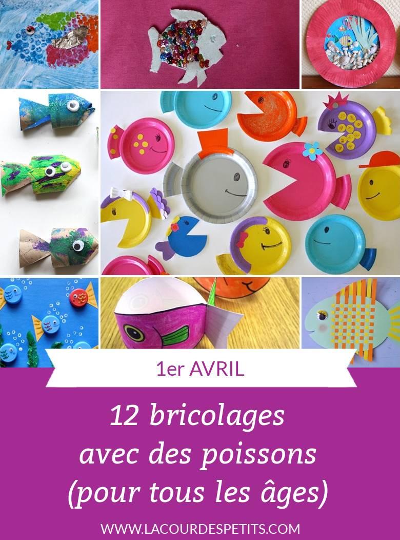 12 Bricolages Poissons Pour Le 1Er Avril |La Cour Des Petits tout Activité 2 3 Ans