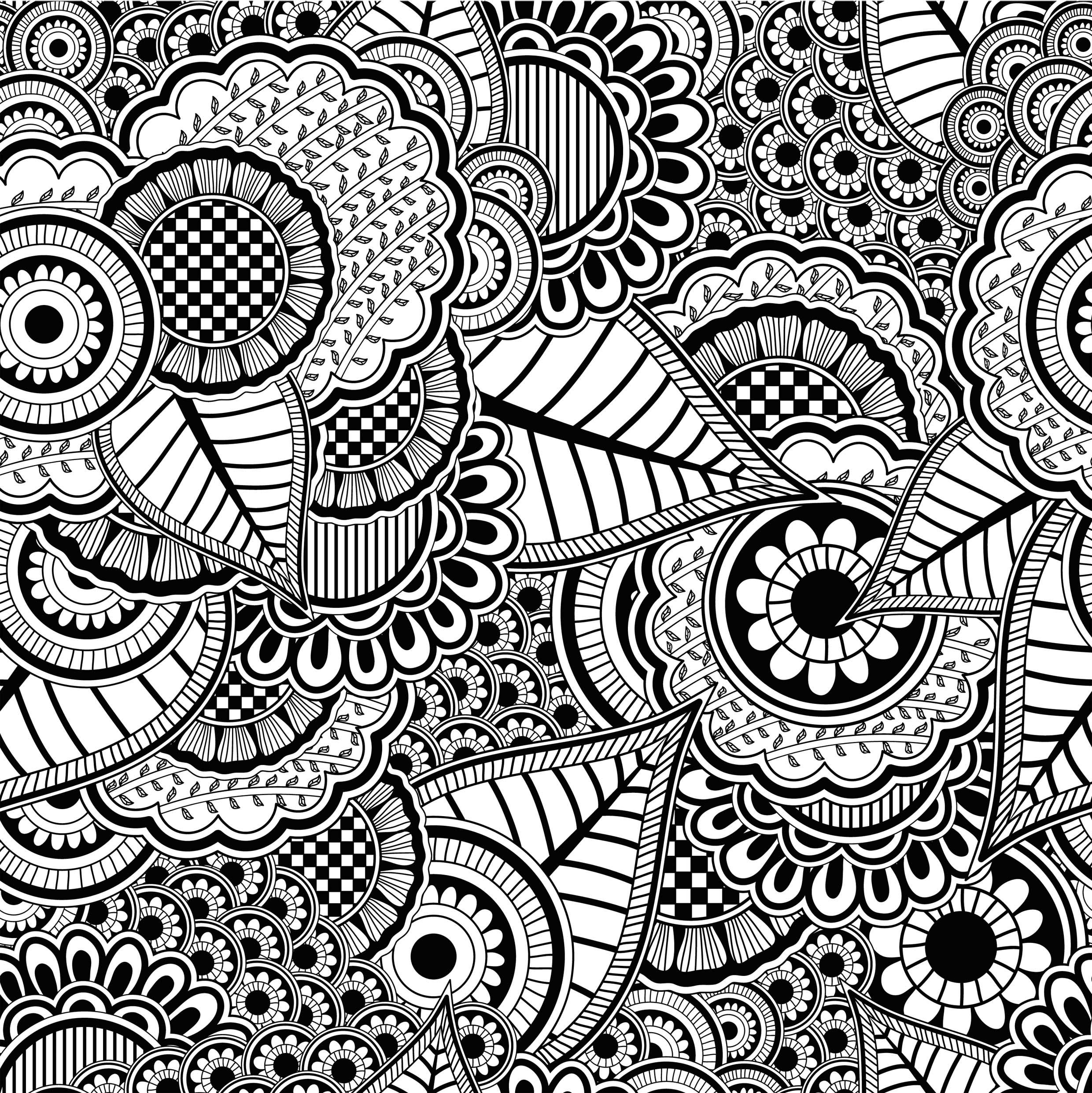 12 Coloriages Anti Stress À Imprimer | Superbes Mandalas Zen intérieur Mandala À Imprimer Facile