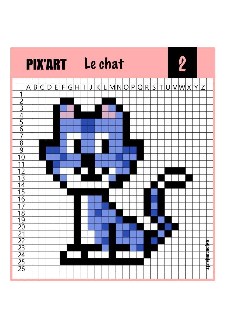 12 Modèles De Pixel Art Animaux À Télécharger Gratuitement dedans Jeux De Dessin Pixel Art Gratuit