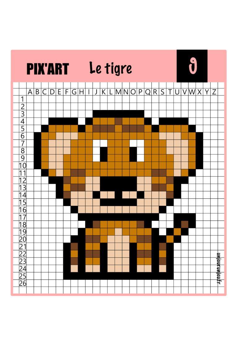 12 Modèles De Pixel Art Animaux À Télécharger Gratuitement destiné Jeux Dessin Pixel