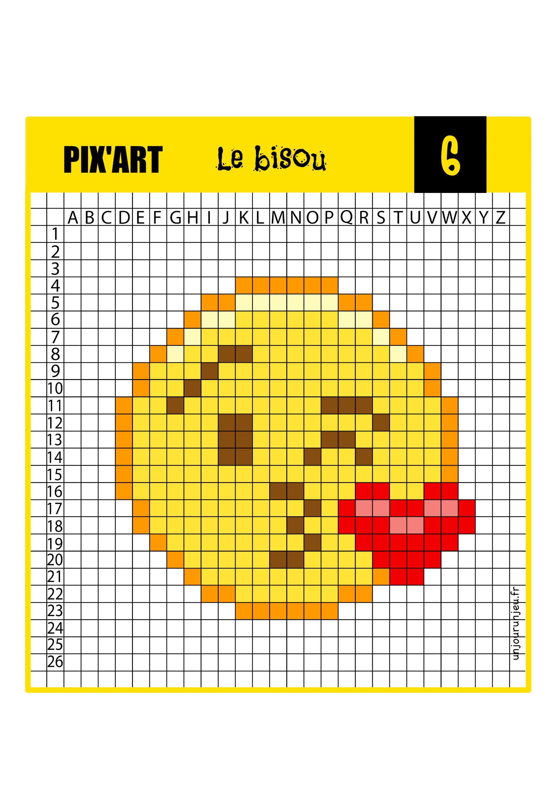 12 Modèles De Pixel Art Smiley À Télécharger Gratuitement encequiconcerne Pixel A Colorier