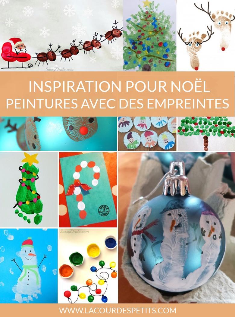 14 Peintures De Noël À Base D'empreintes |La Cour Des Petits tout Activité Manuelle Noel En Creche