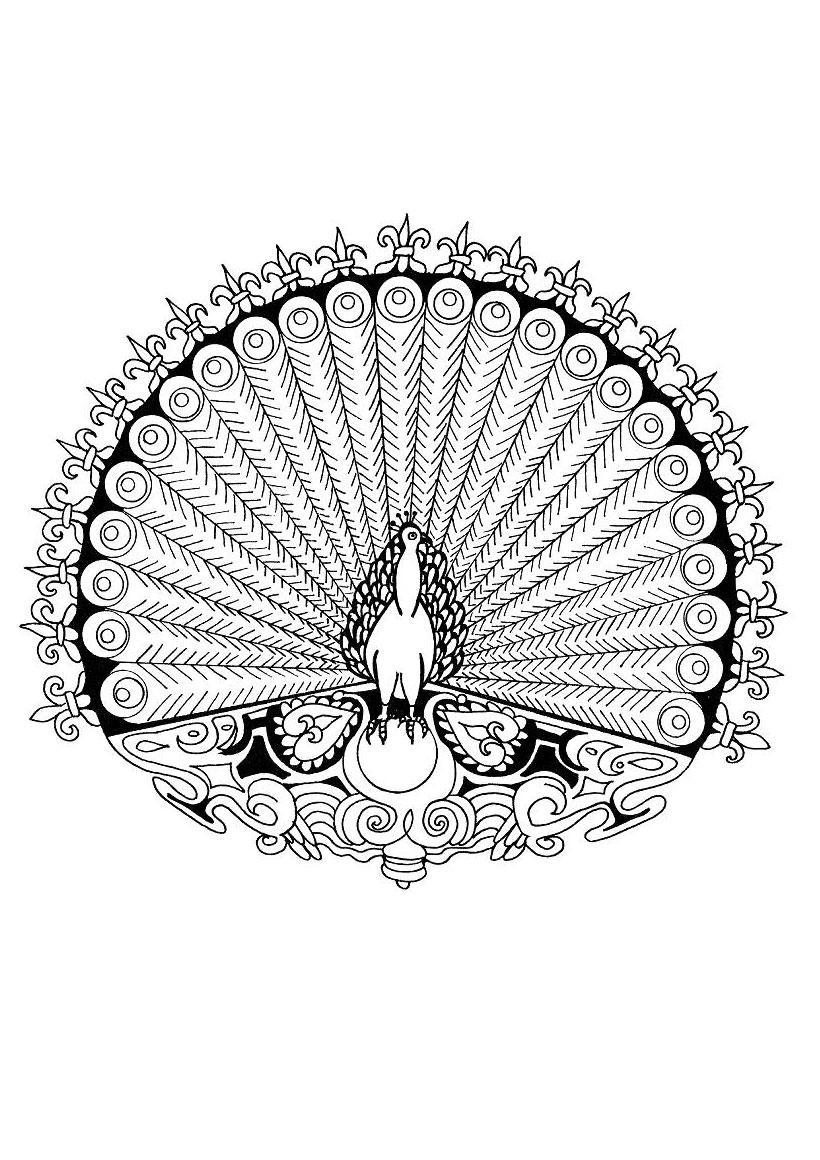 141 Dessins De Coloriage Mandala À Imprimer concernant Mandala À Imprimer Facile