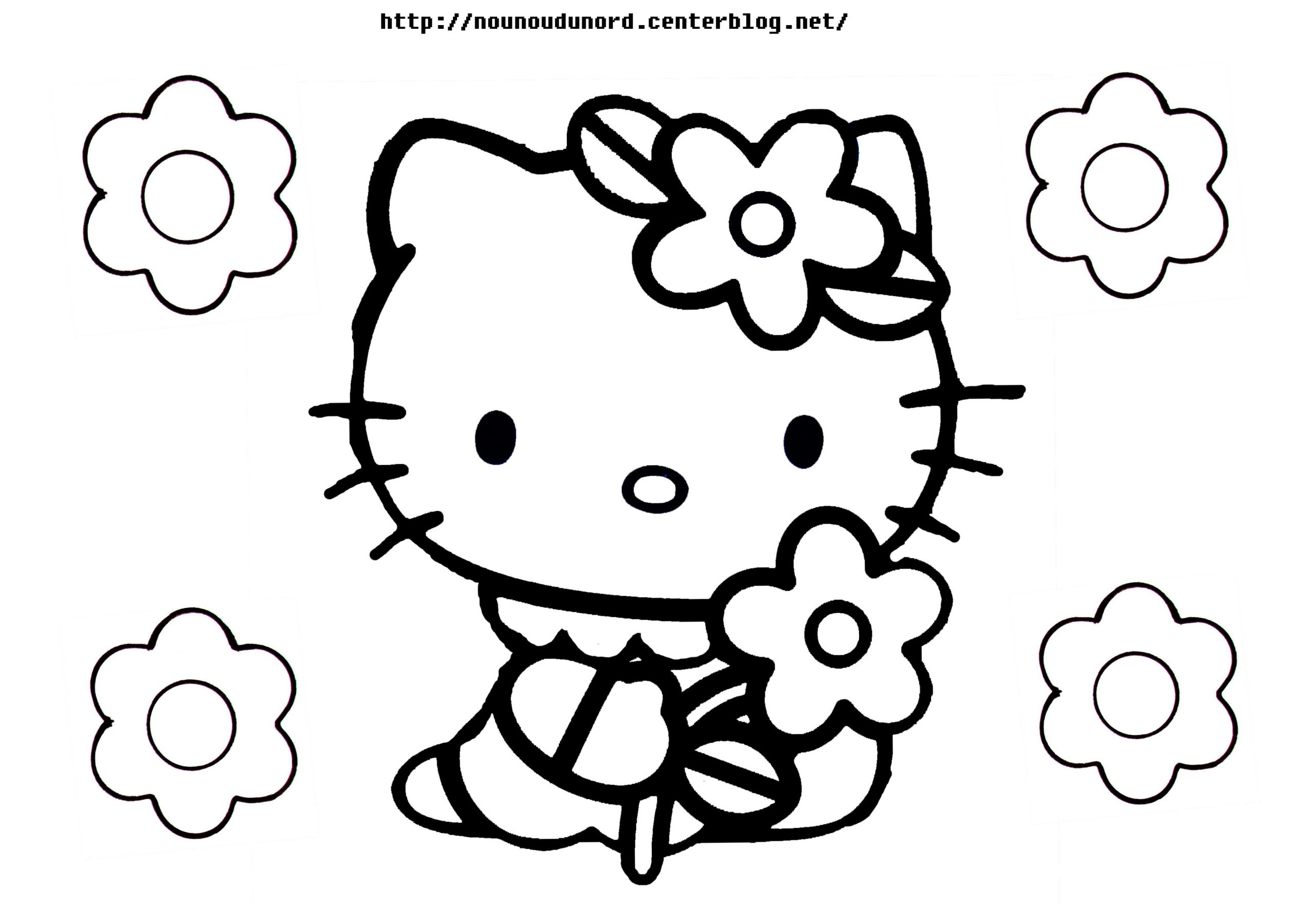 143 Dessins De Coloriage Hello Kitty À Imprimer concernant Hello Kitty À Dessiner