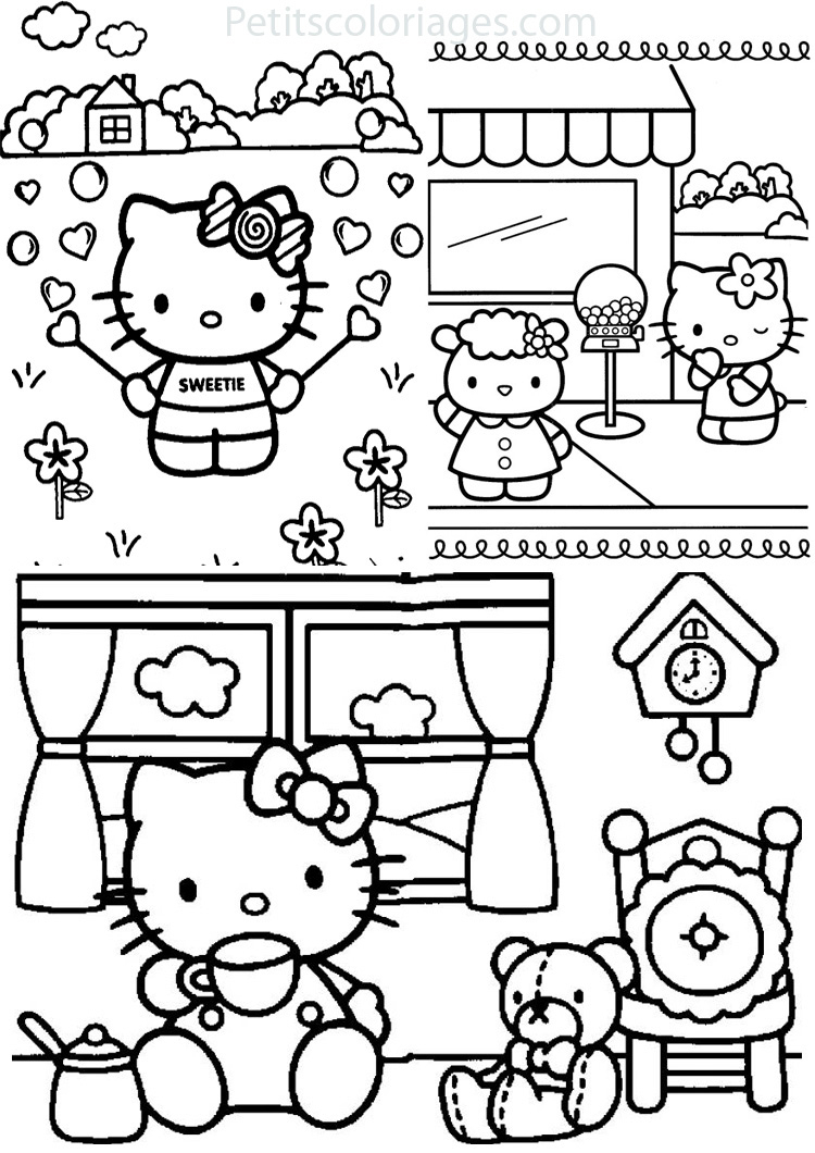 143 Dessins De Coloriage Hello Kitty À Imprimer encequiconcerne Hello Kitty À Dessiner