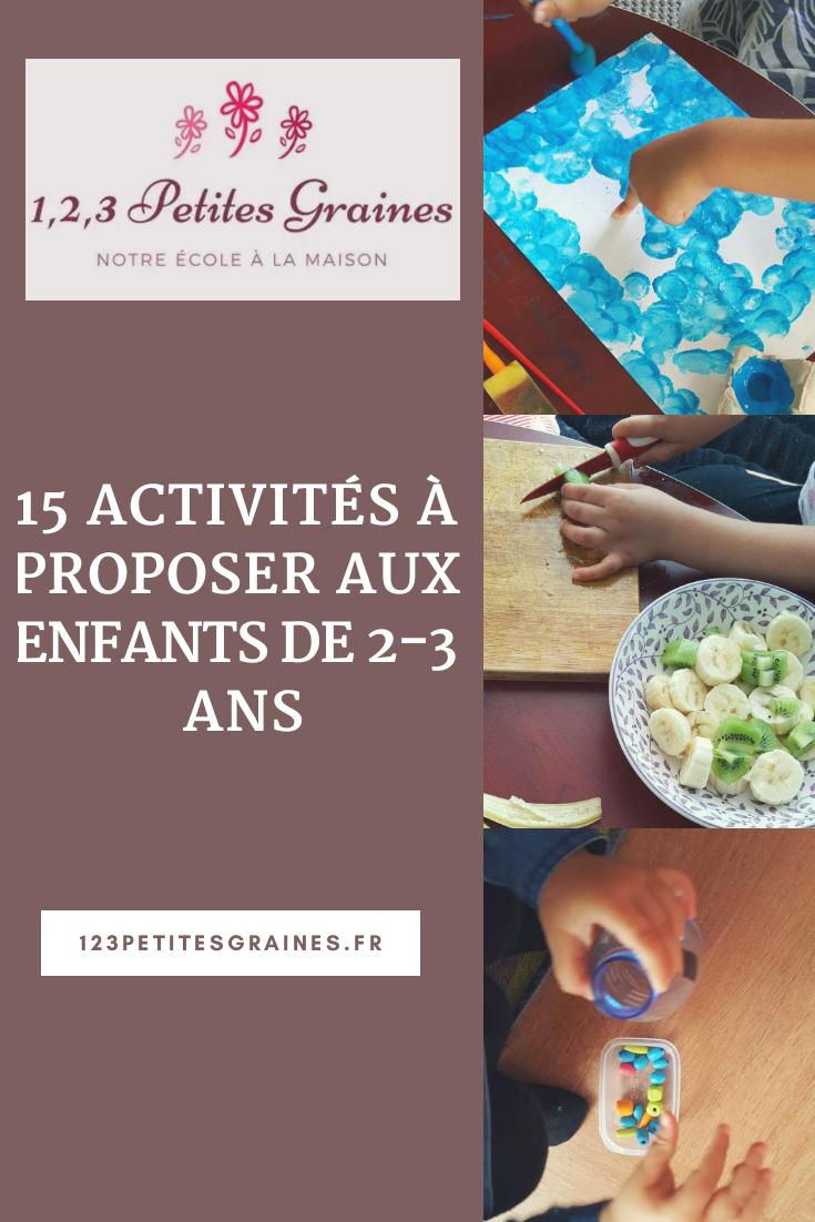 15 Activités À Proposer Aux Enfants De 2-3 Ans - 1,2,3 avec Activité 2 3 Ans
