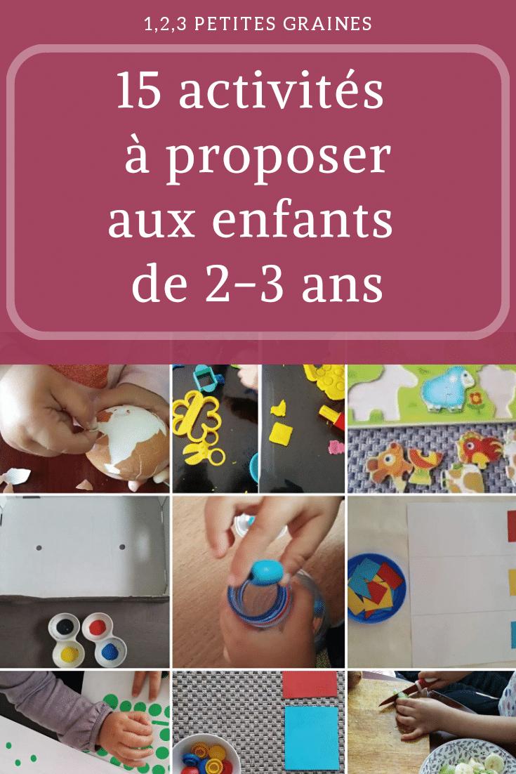 15 Activités À Proposer Aux Enfants De 2-3 Ans D'inspiration dedans Activité Montessori 3 Ans