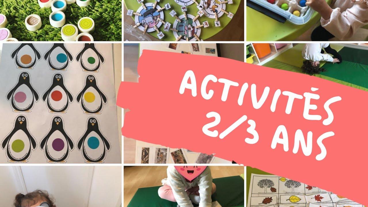 15 Idées D'activités Pour Les 2/3 Ans tout Activité 2 3 Ans
