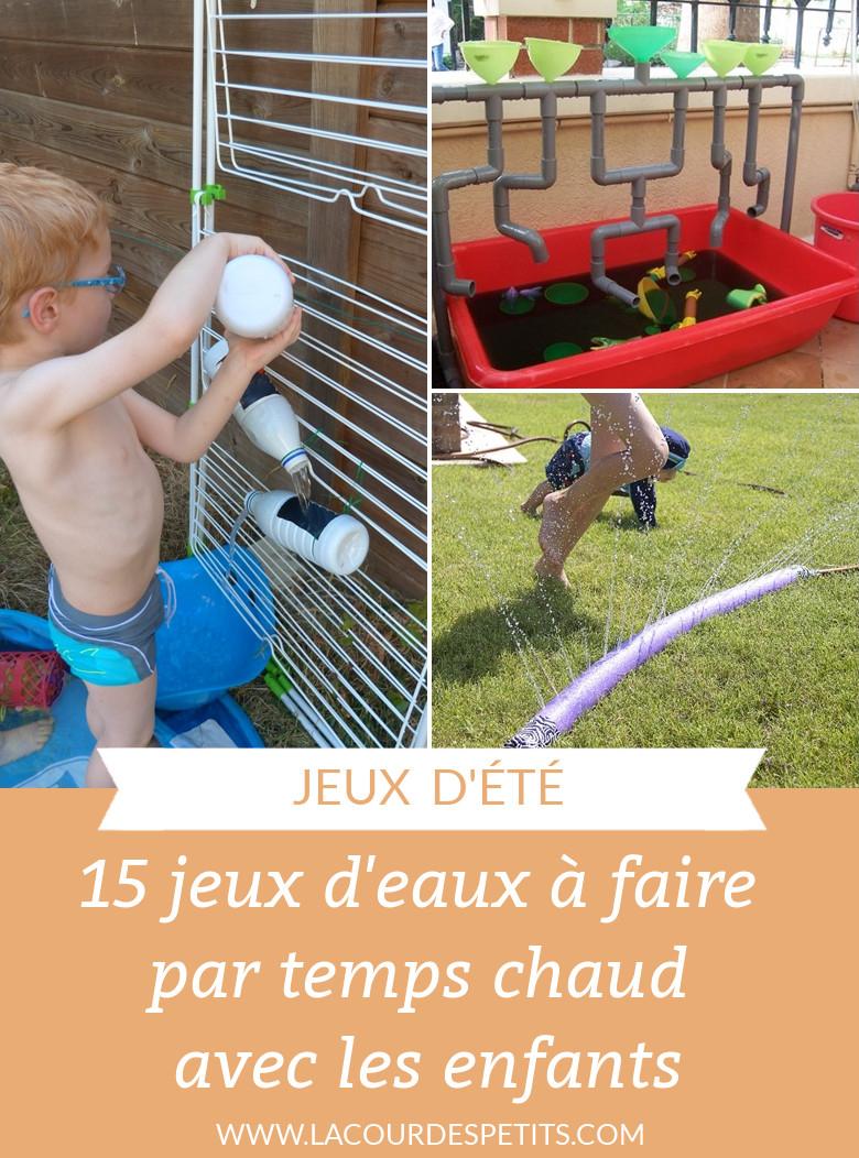 15 Idées De Jeux D'eau Pour Les Enfants |La Cour Des Petits pour Jeux De Petit Garçon De 3 Ans
