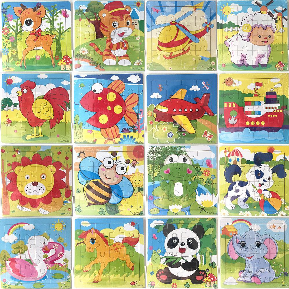 16 Pièces En Bois Puzzle Maternelle Bébé Jouets Enfants Animaux Bois 3D  Puzzles Enfants Building Blocks Drôle Jeu Jouets Éducatifs C5351 encequiconcerne Puzzle En Ligne Enfant
