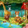 18 Coloriages D'animaux De La Jungle serapportantà Jeux D Animaux Gratuit