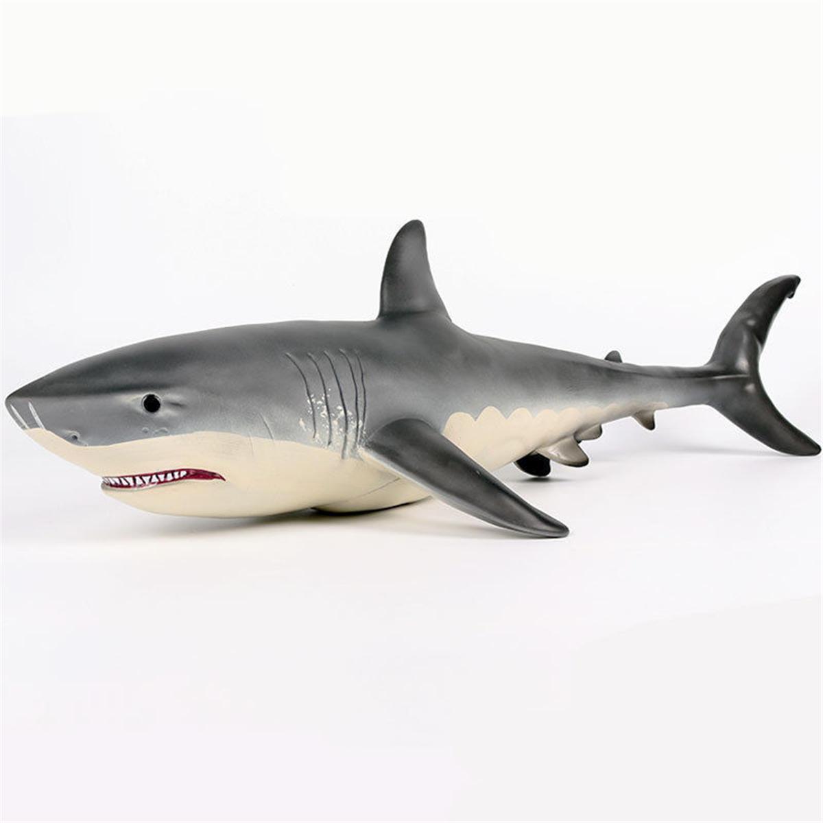 19 Pouces Grande Taille Megalodon Grand Requin Blanc Jouet Modèle Moulé  Sous Pression Modèle Figure Jouet Cadeau encequiconcerne Voiture Requin Jouet