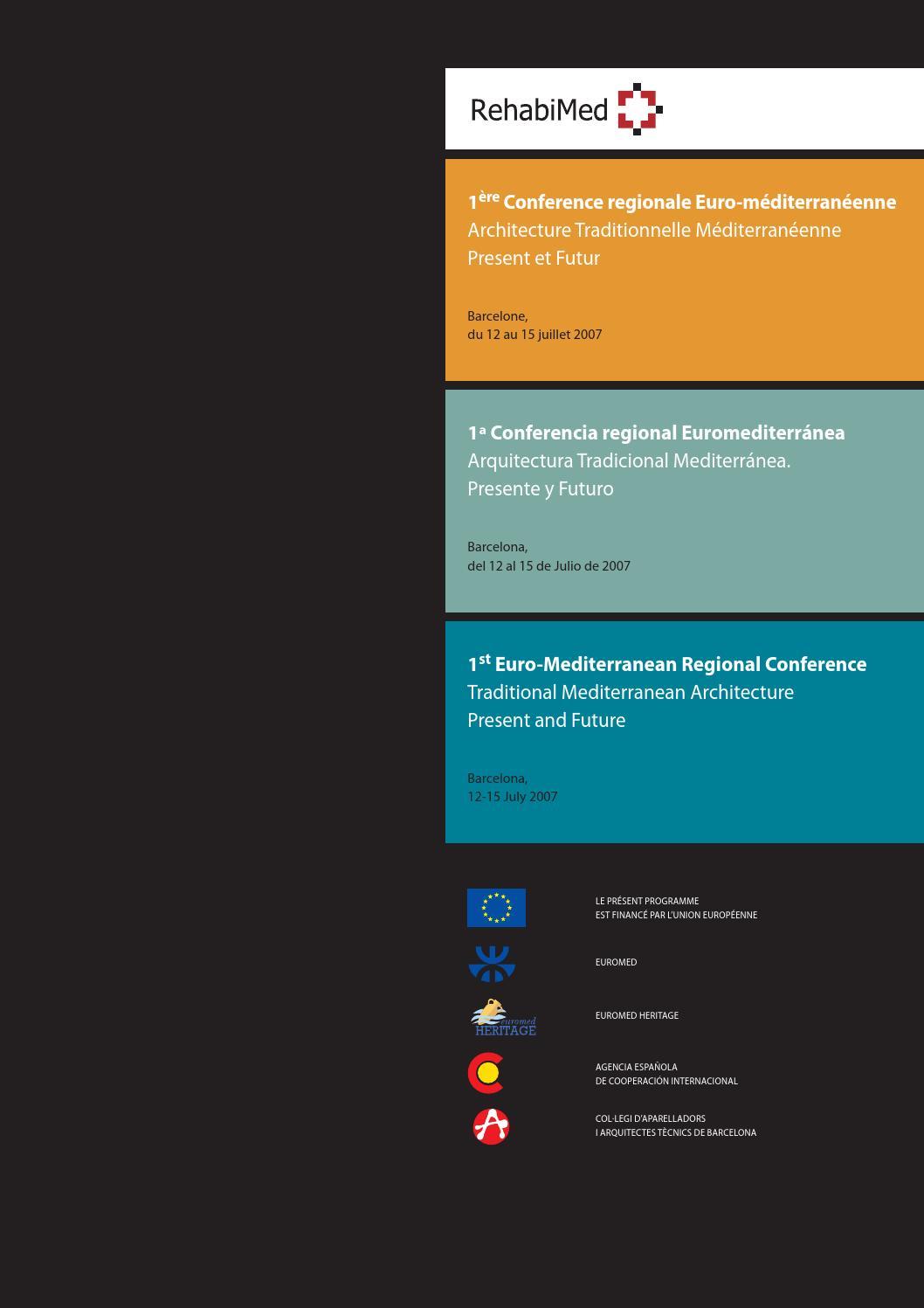 1Ère Conference Regionale Euro-Méditerranéenne Architecture pour Fausses Pieces Euros