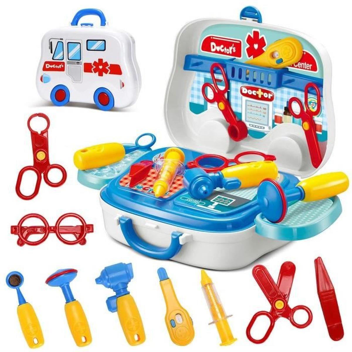 1Pcs Malette De Docteur Avec Accessoires Jeux D'imitation pour Jeux Pour Enfant De 3 Ans
