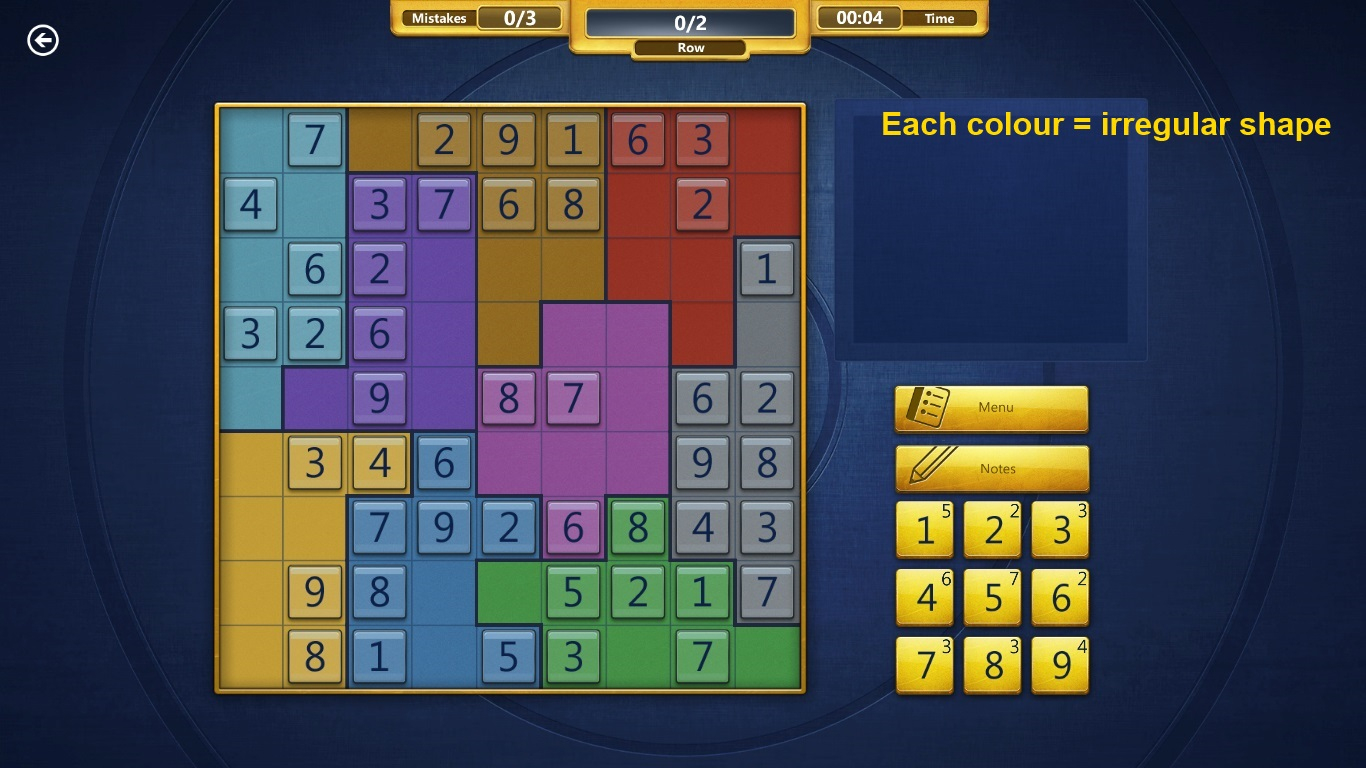 2. General Hints And Tips - Microsoft Sudoku (Win 8) Walkthrough serapportantà Sudoku Gs