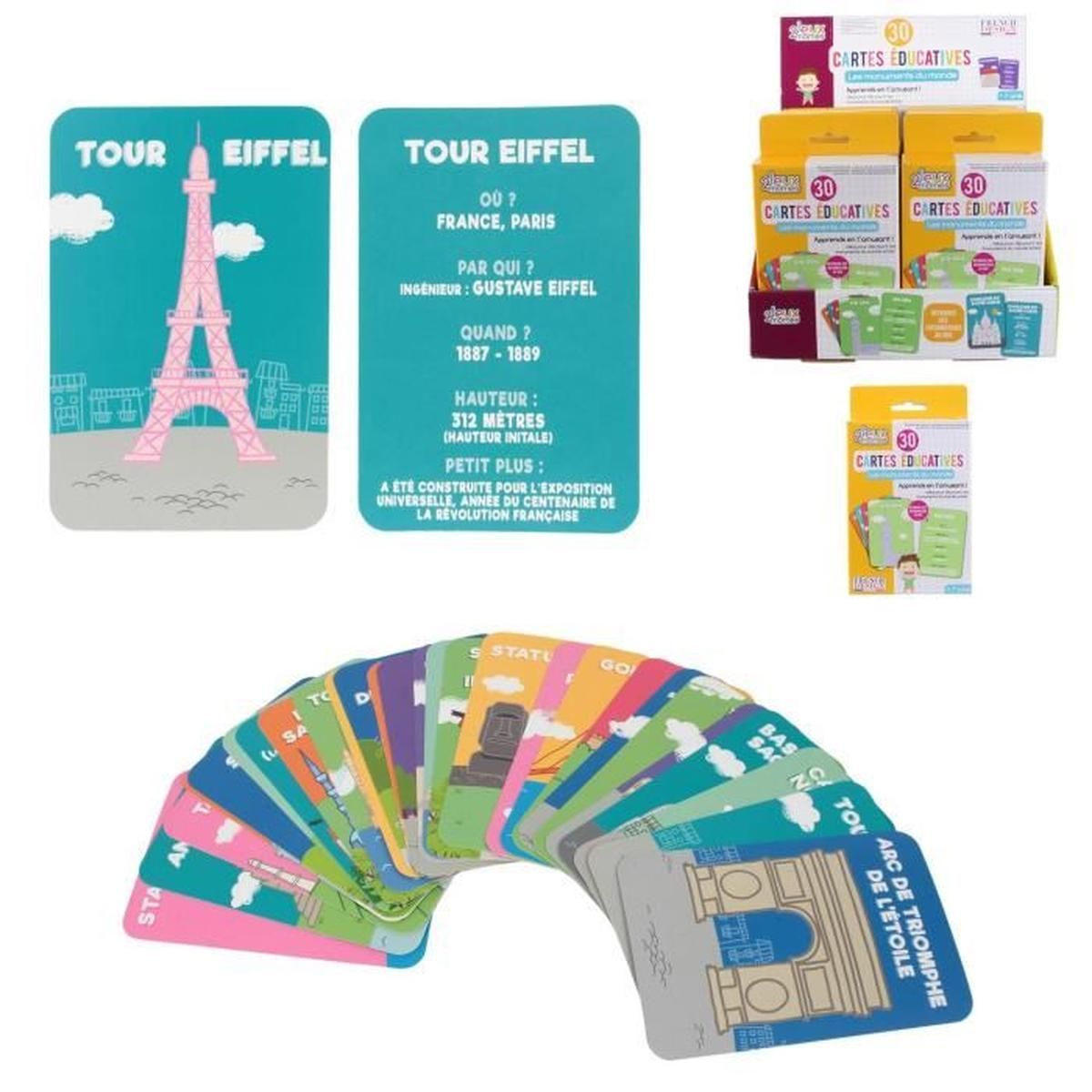 2 Jeux Mömes Paquet De 30 Carte Éducative J'apprends Les destiné Jeu Carte De France