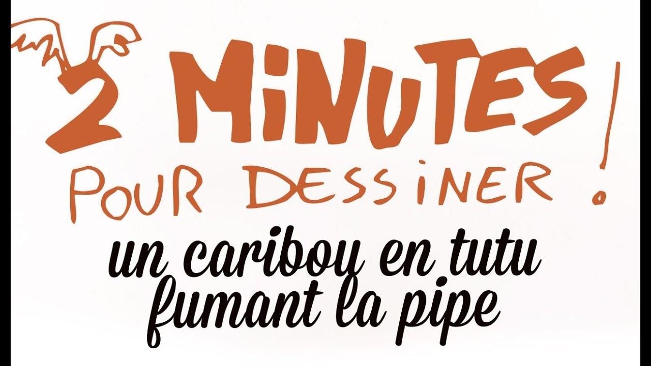 2 Minutes Pour Dessiner Un Caribou En Tutu Fumant La Pipe tout Caribou Dessin