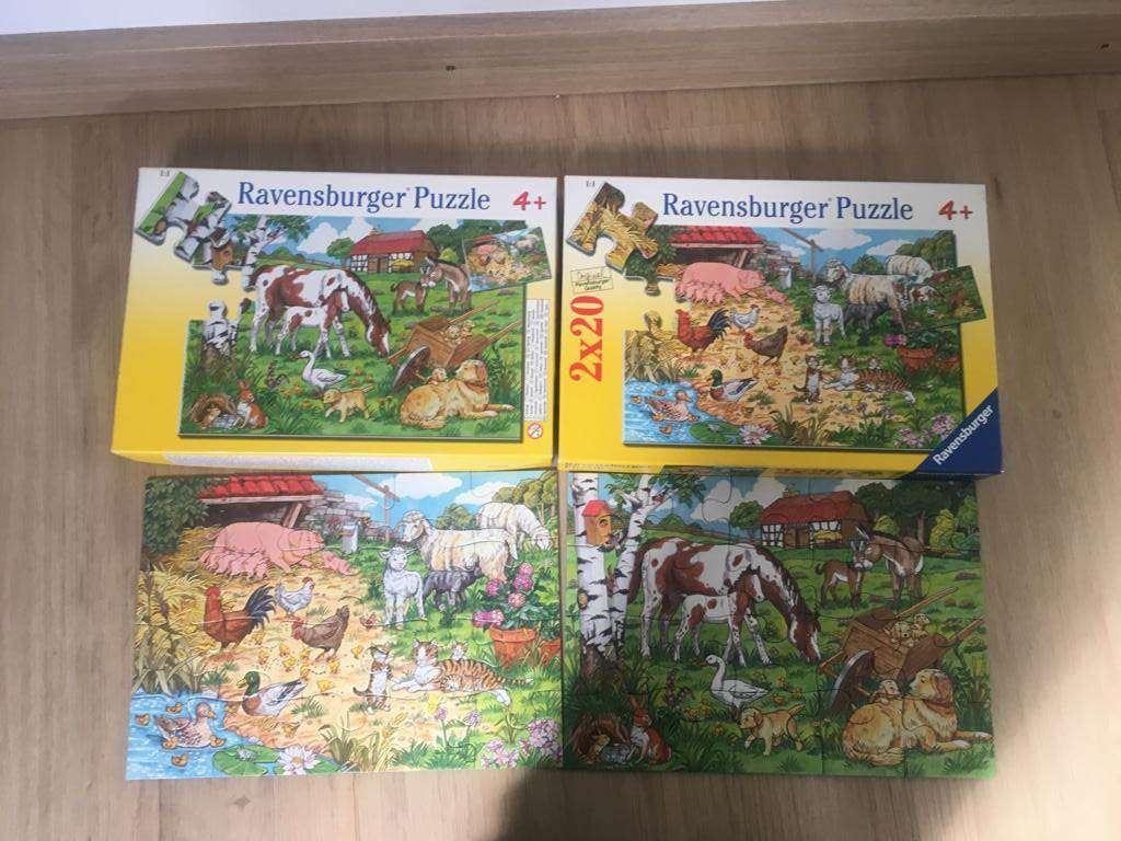 2 Puzzles Ravensburger Animaux De La Ferme - 2X 20 Pièces destiné Jeux Les Animaux De La Ferme