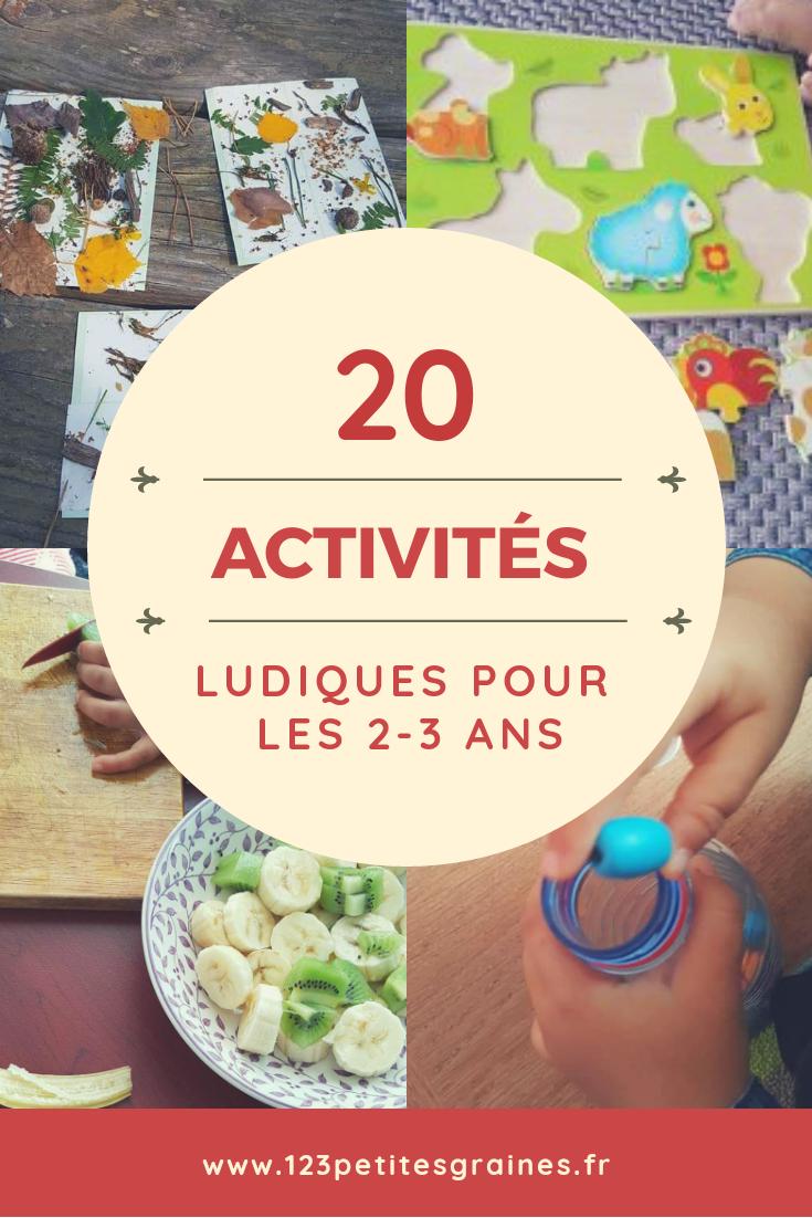 20 Activités Ludiques De 2-3 Ans #activitesenfants pour Activité 2 3 Ans