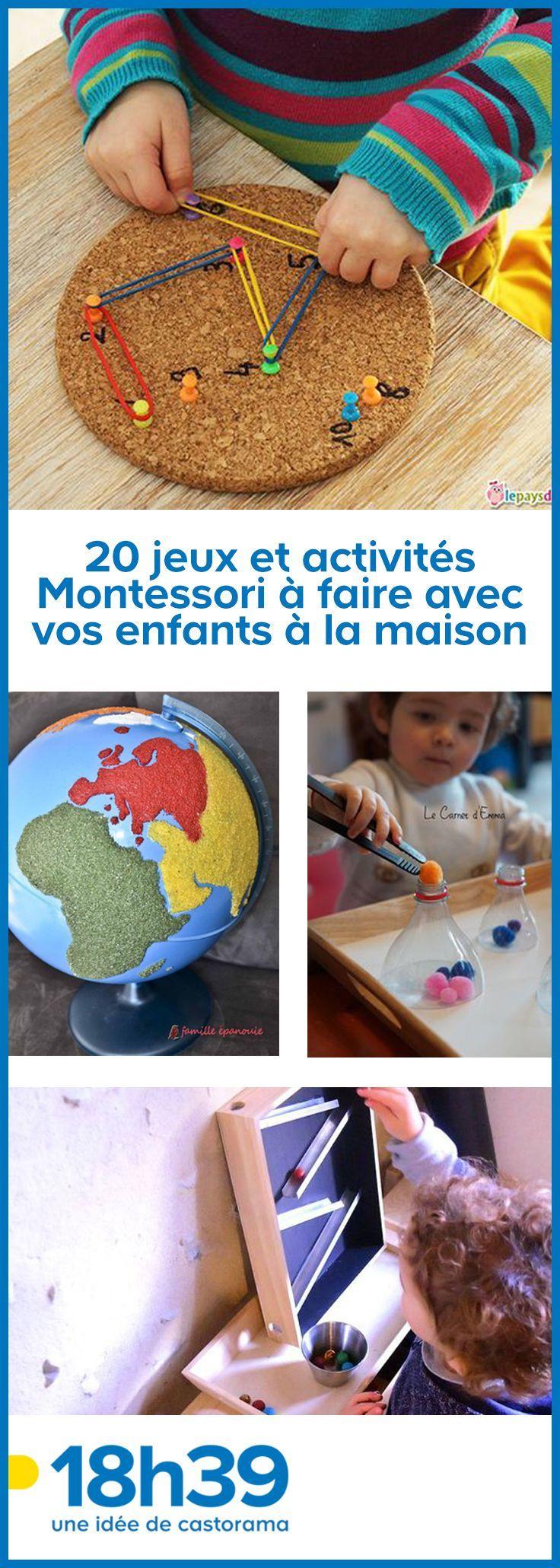20 Jeux Et Activités Montessori À Faire Avec Vos Enfants À tout Activité Montessori 3 Ans