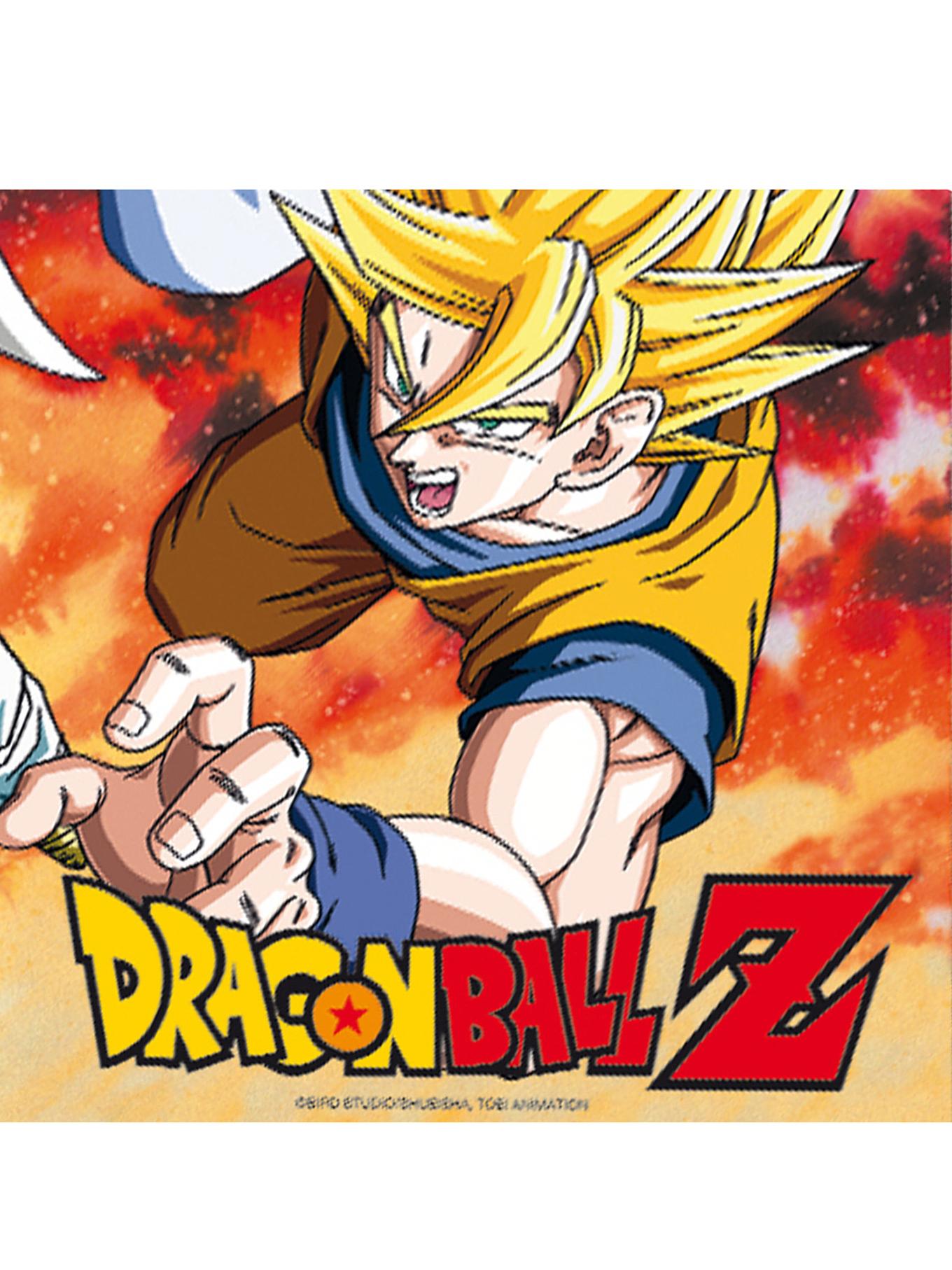 20 Serviettes En Papier Dragon Ball Z™ 33 X 33 Cm à Dessin Animé De Dragon Ball Z