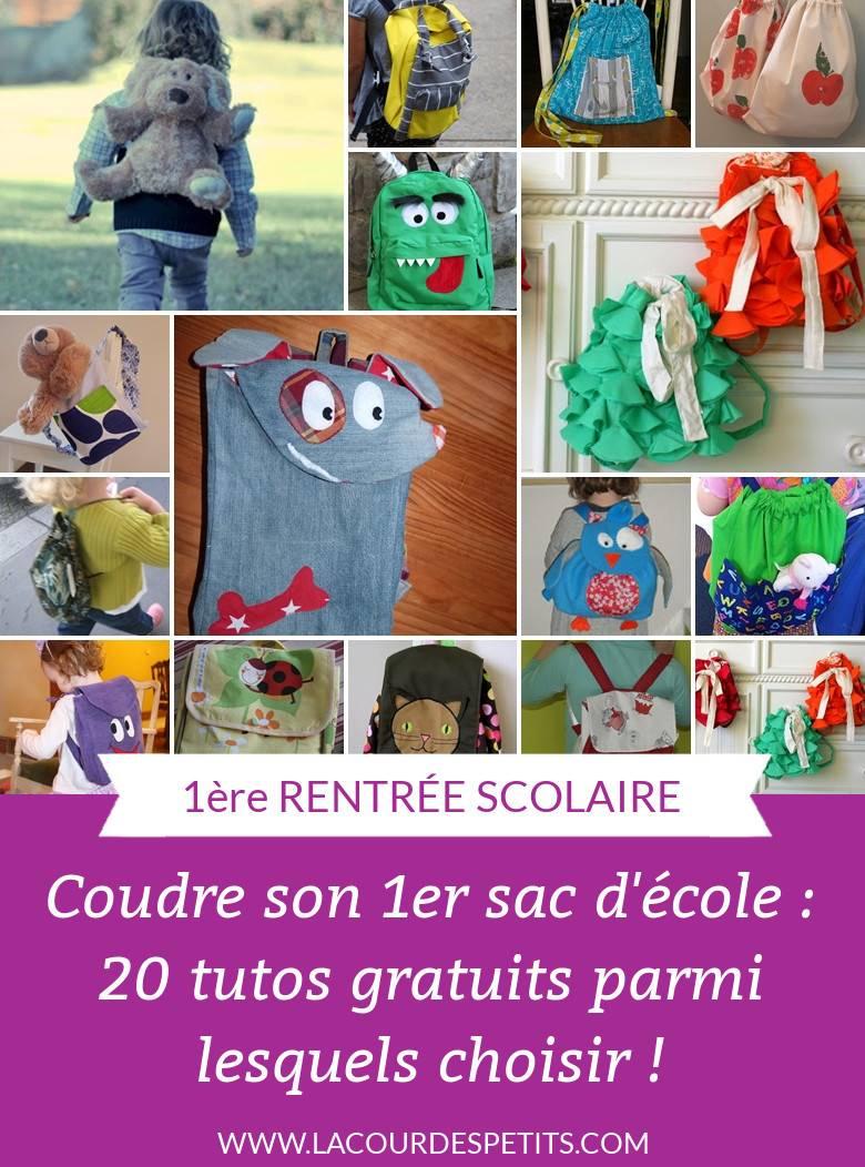 20 Tutos Gratuits De Sac À Dos Enfant  La Cour Des Petits avec Jeu Pour Bebe 2 Ans Gratuit